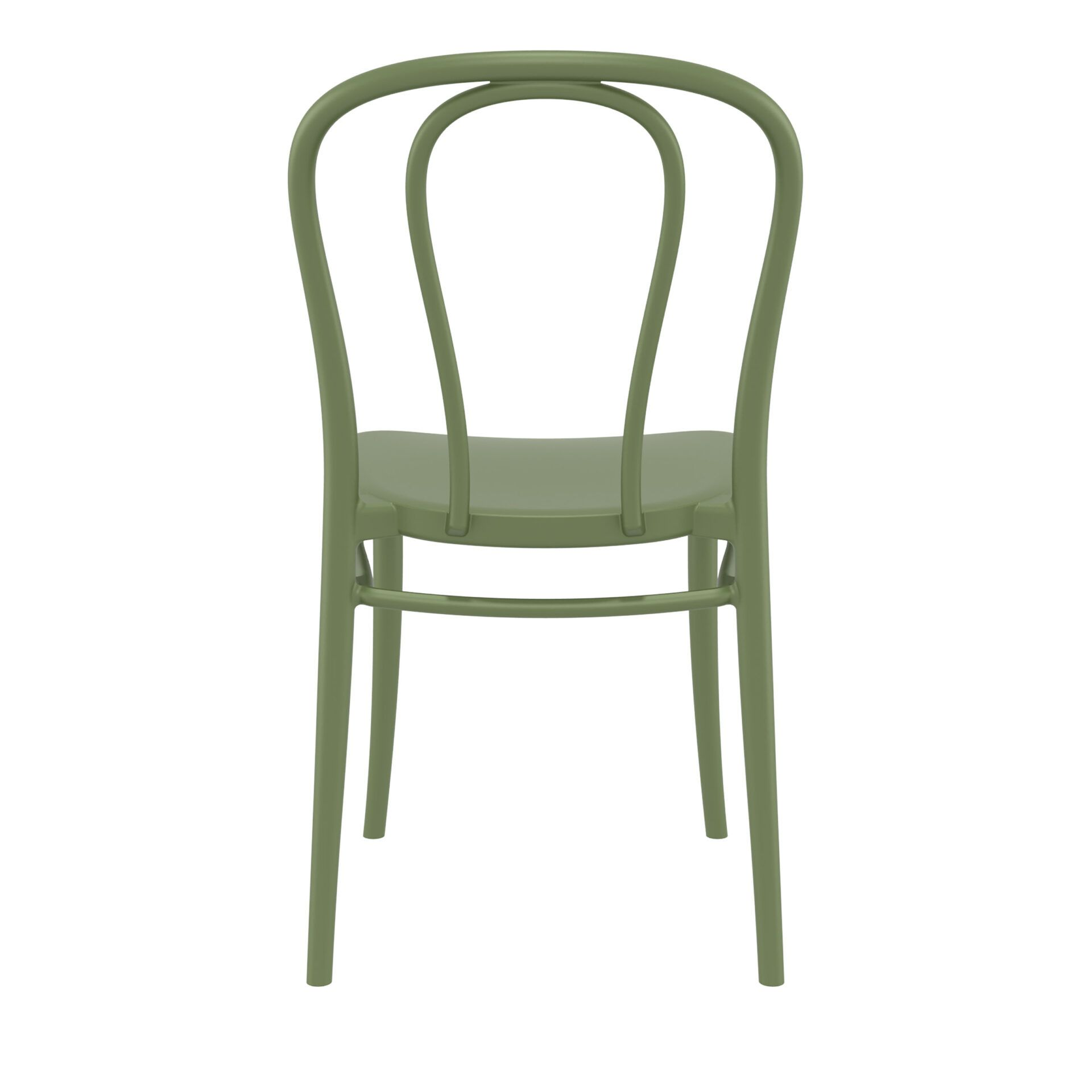 restaurant seating polypropylene victor chair olive green back