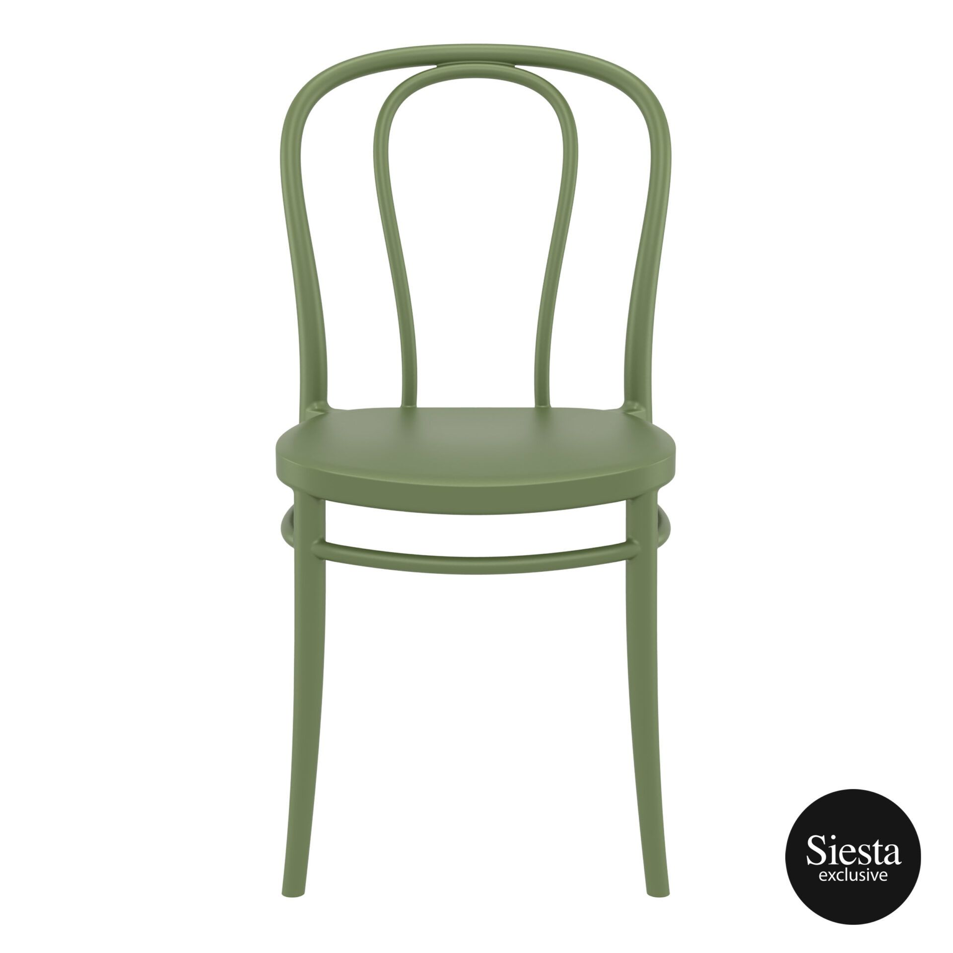 restaurant seating polypropylene victor chair olive green front 1