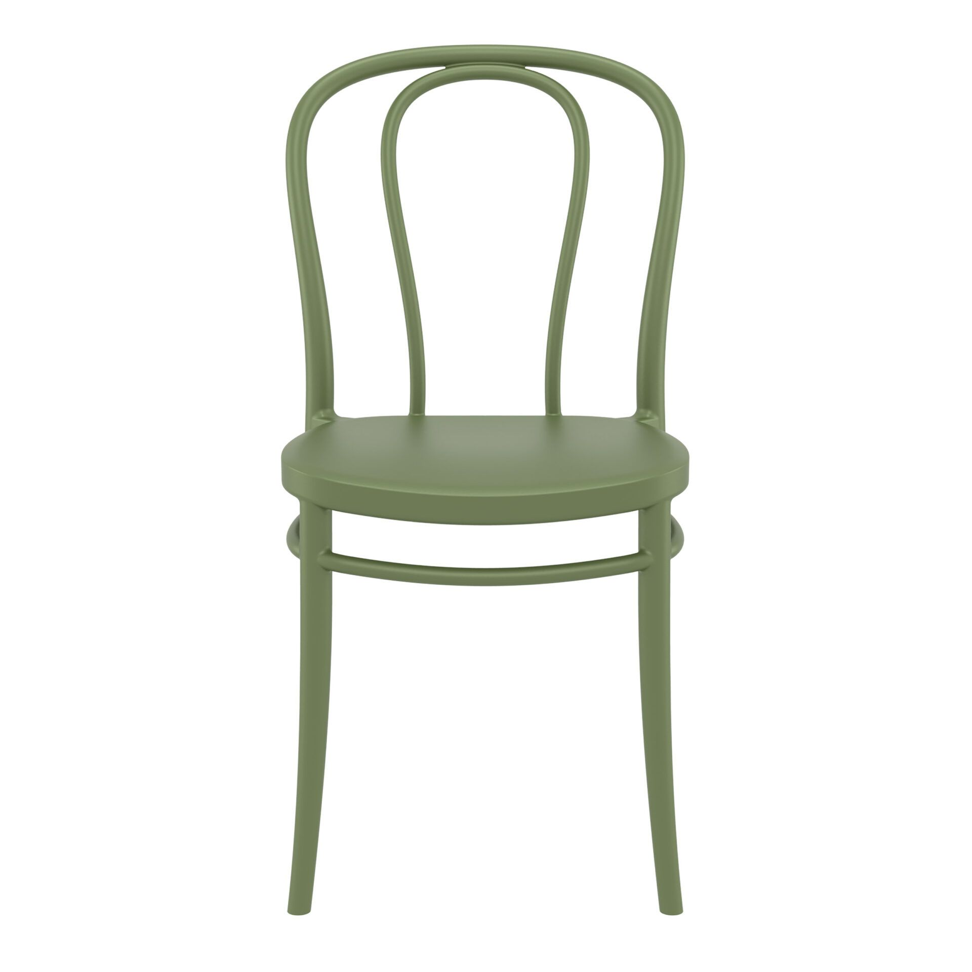 restaurant seating polypropylene victor chair olive green front