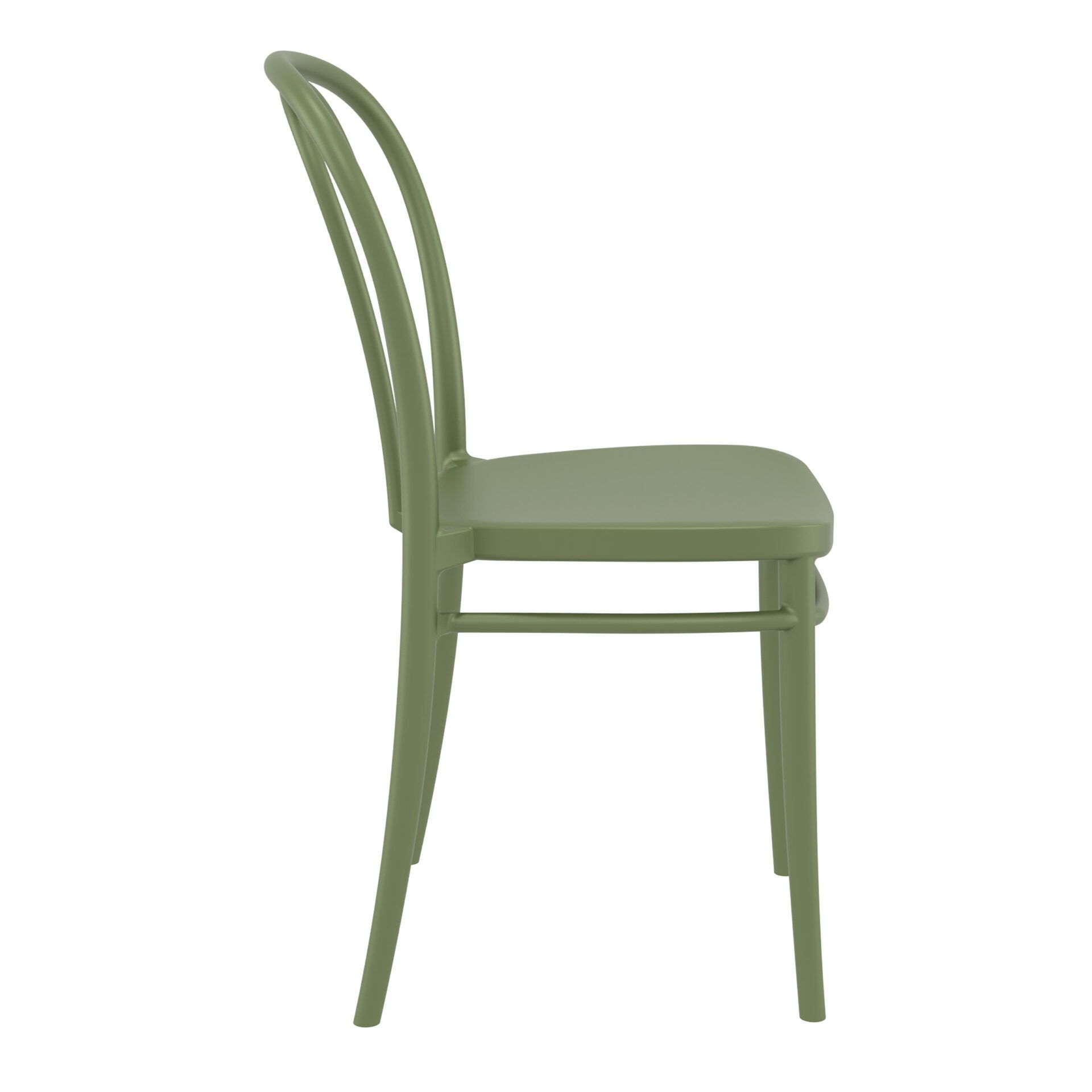 restaurant seating polypropylene victor chair olive green side