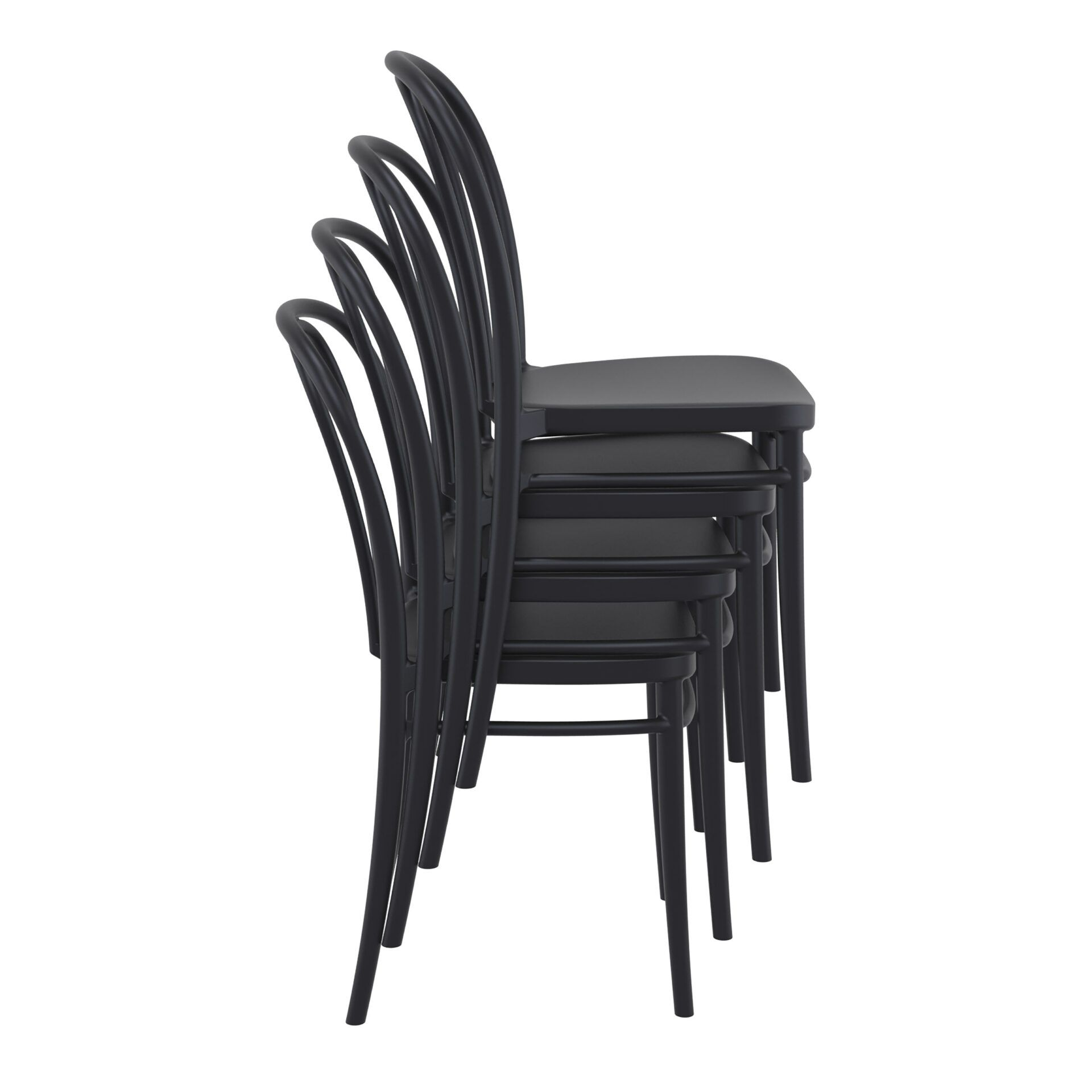 restaurant seating polypropylene victor chair stack 1