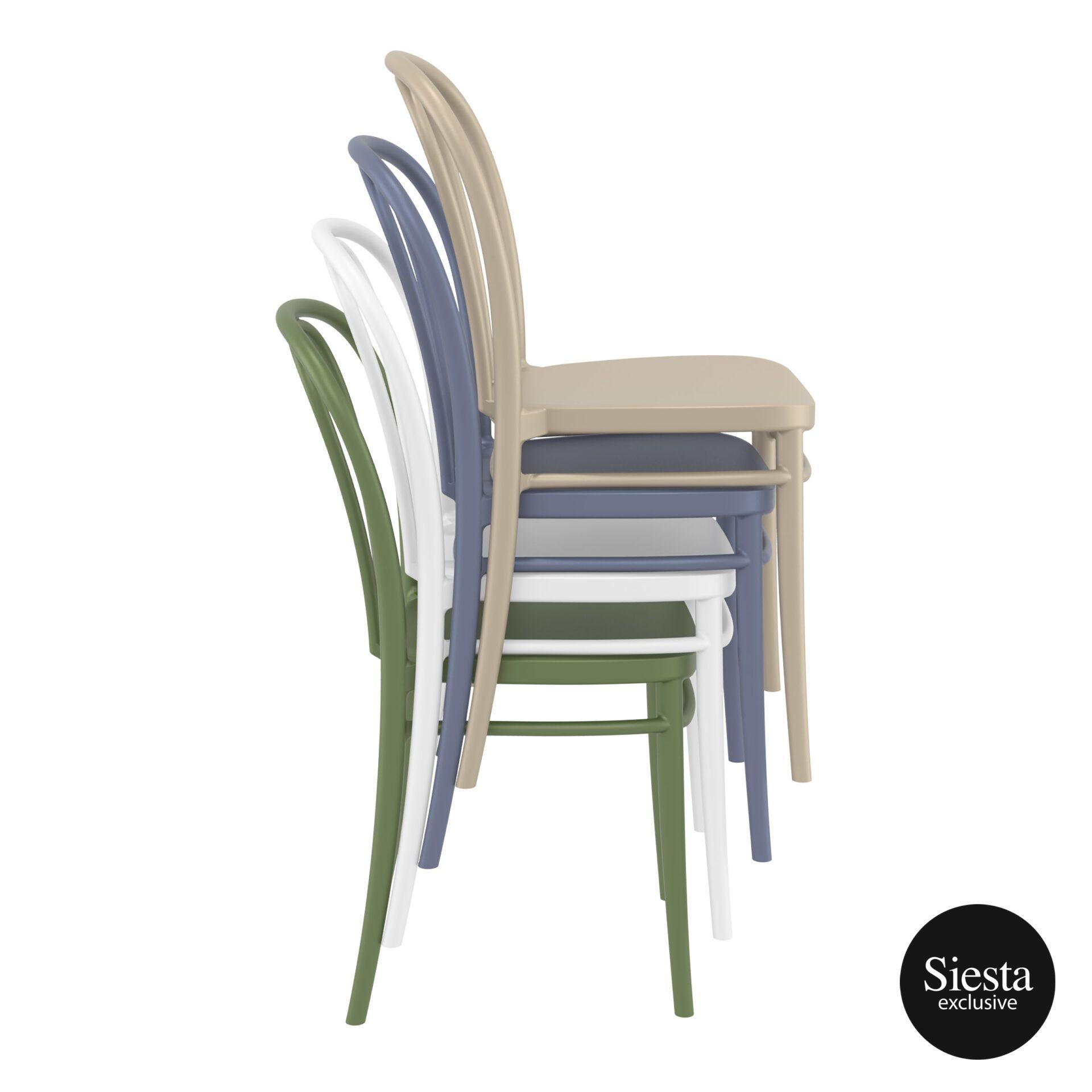 restaurant seating polypropylene victor chair stack 2