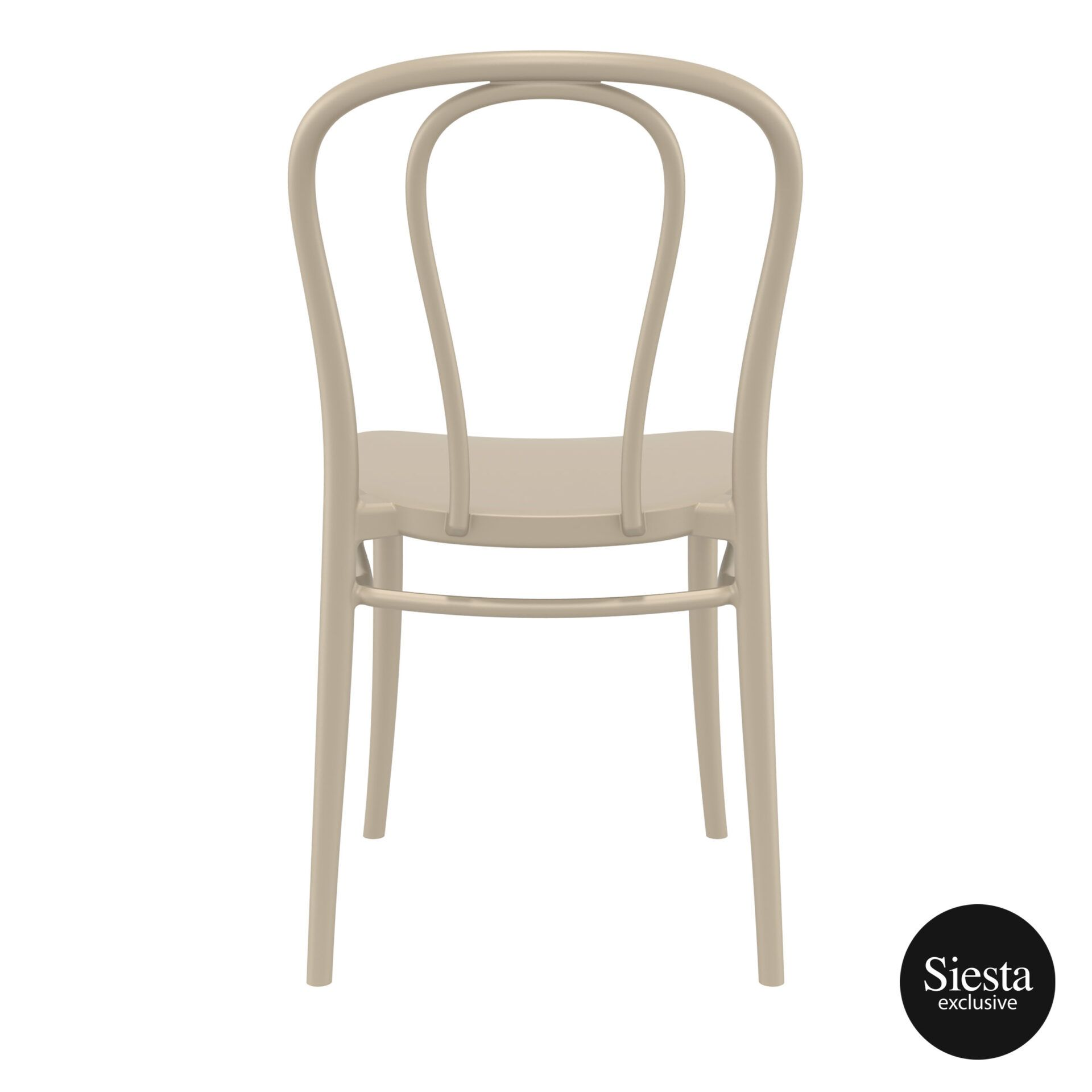 restaurant seating polypropylene victor chair taupe back 1