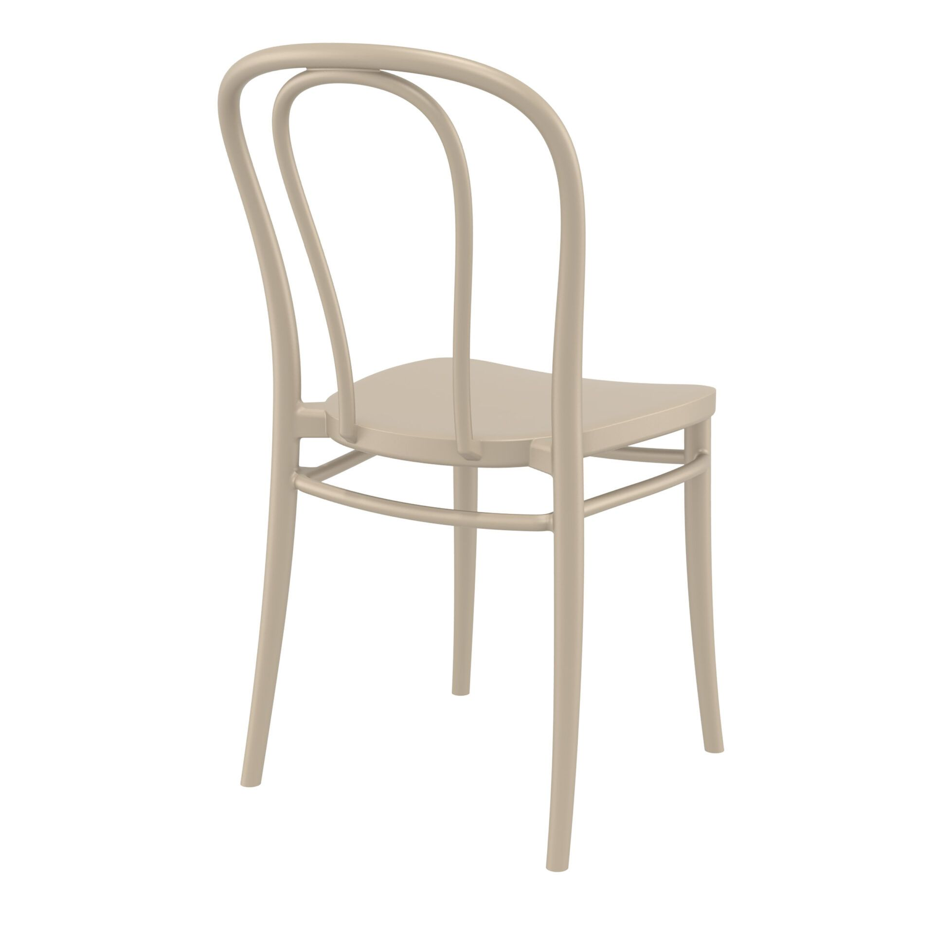 restaurant seating polypropylene victor chair taupe back side