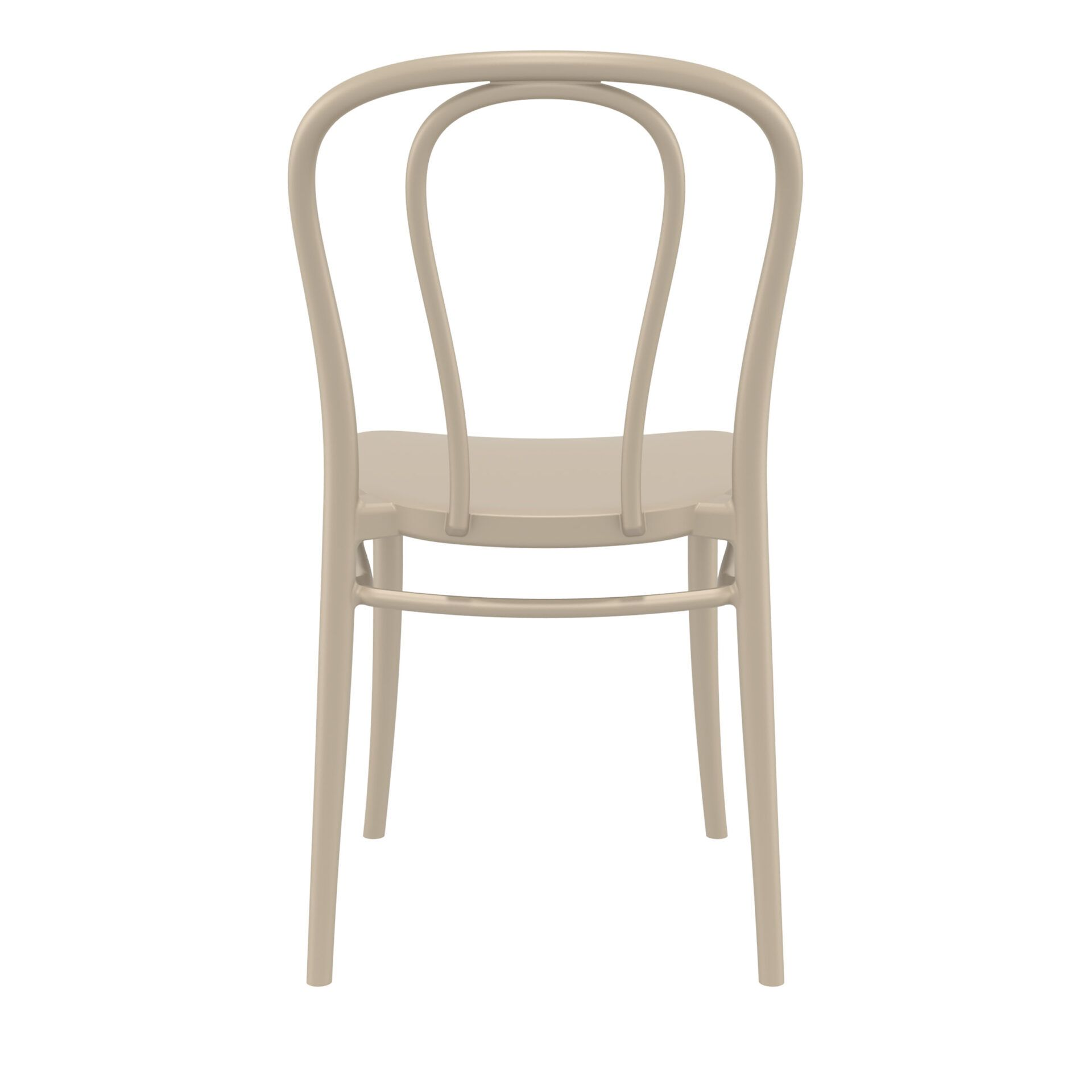 restaurant seating polypropylene victor chair taupe back