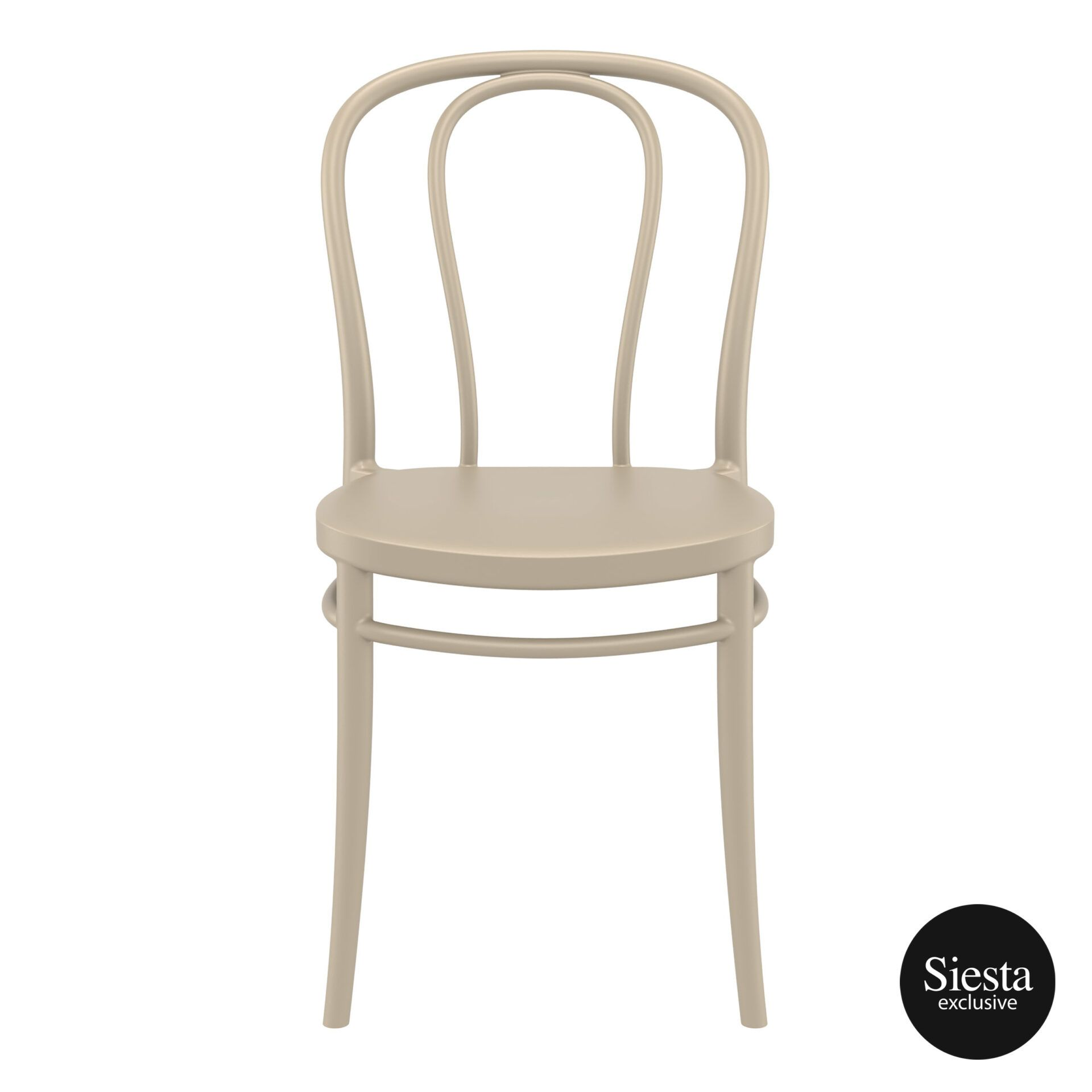 restaurant seating polypropylene victor chair taupe front 1