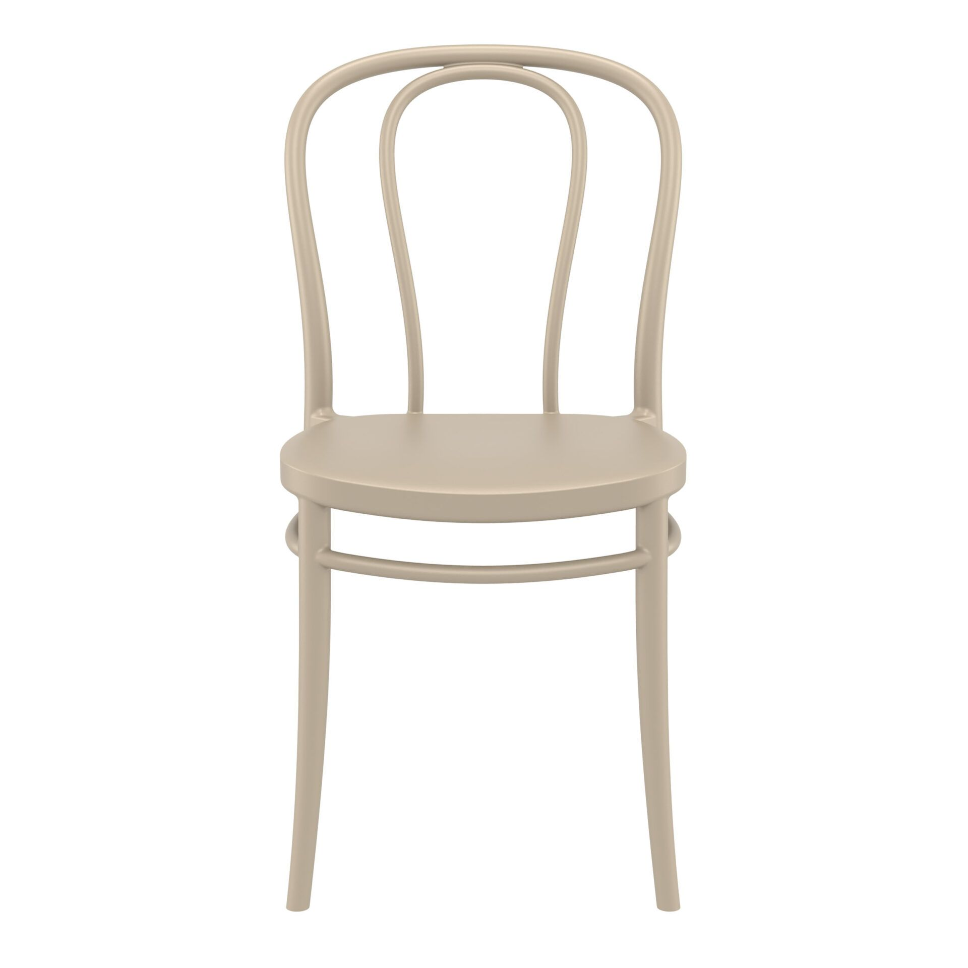 restaurant seating polypropylene victor chair taupe front
