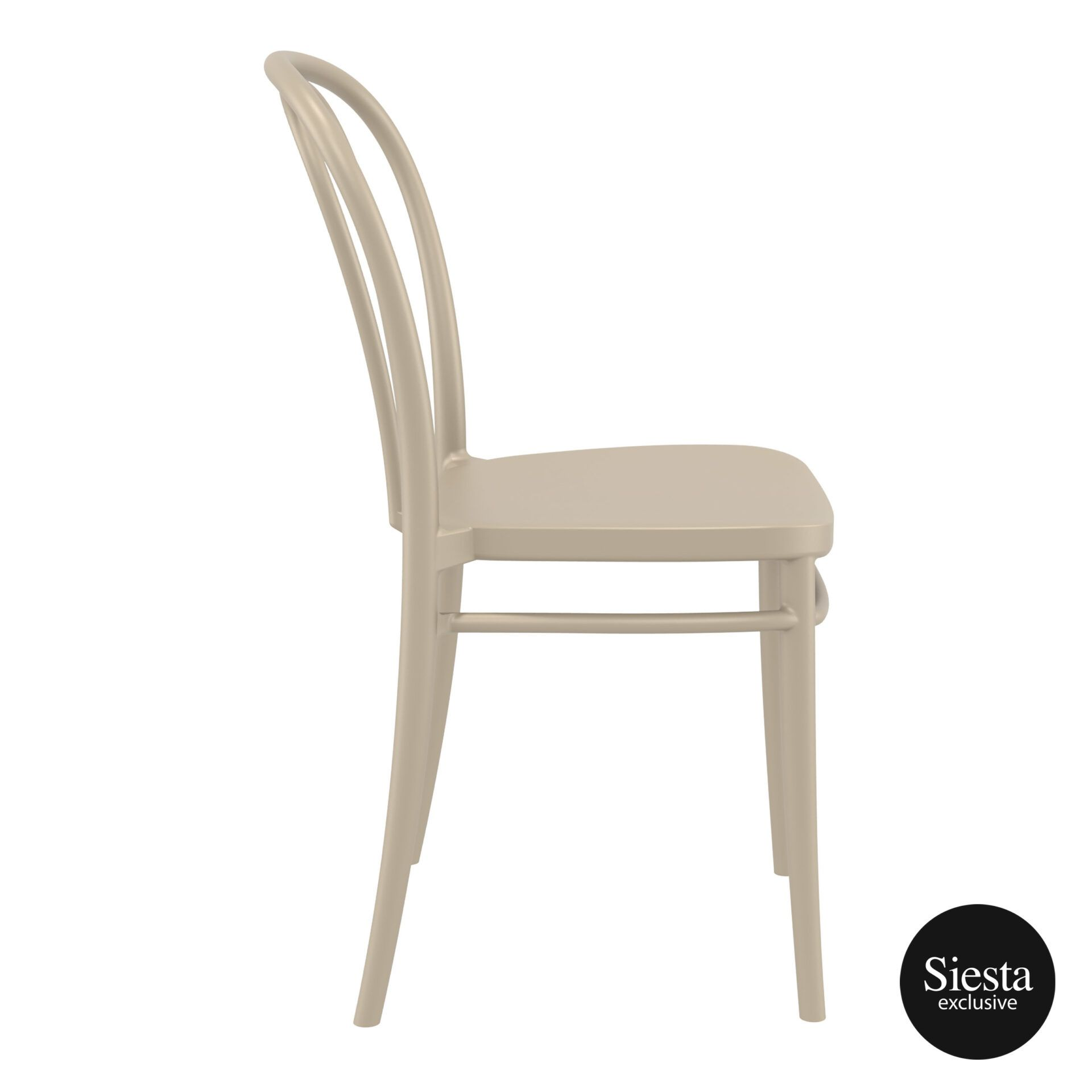 restaurant seating polypropylene victor chair taupe side 1