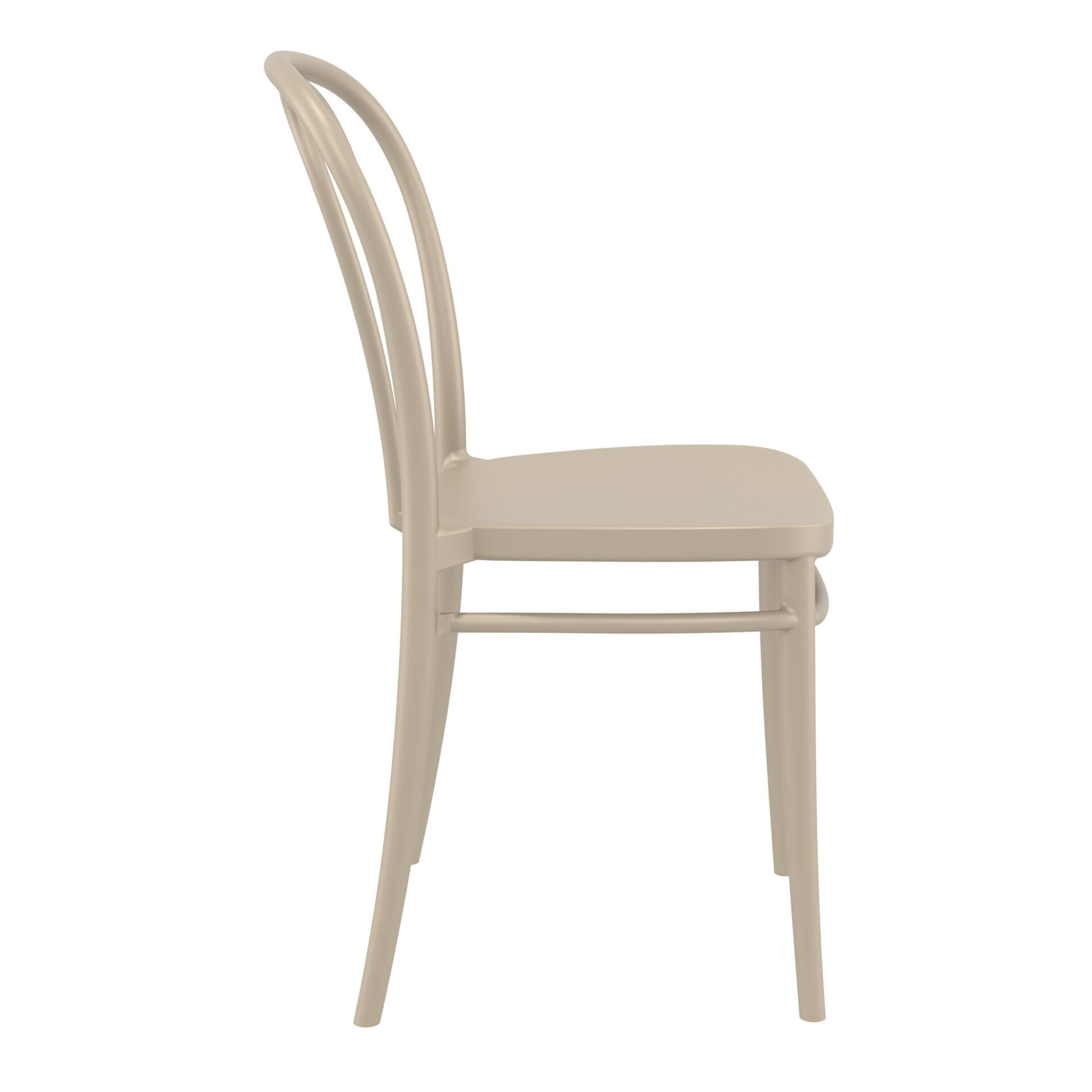 restaurant seating polypropylene victor chair taupe side
