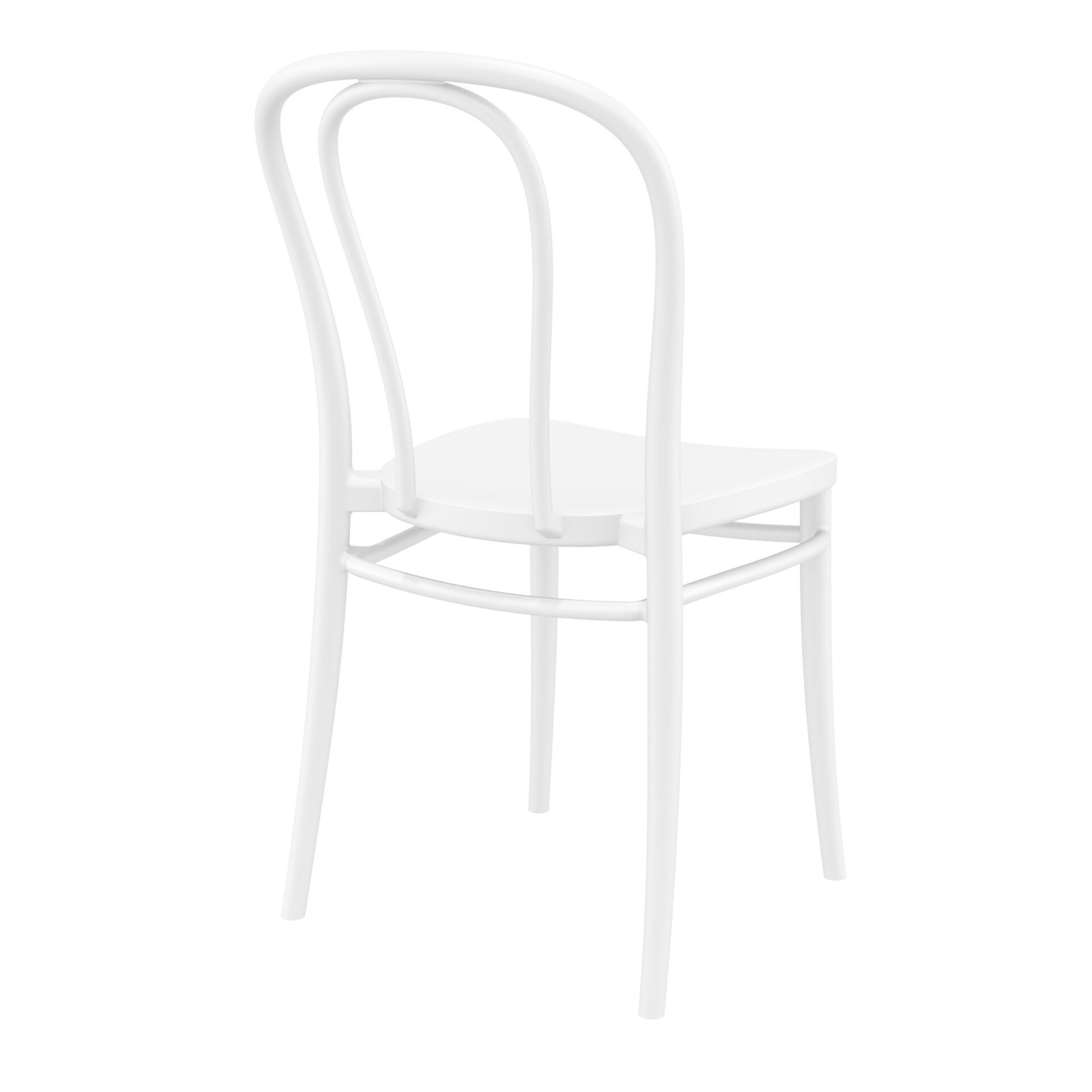 restaurant seating polypropylene victor chair white back side