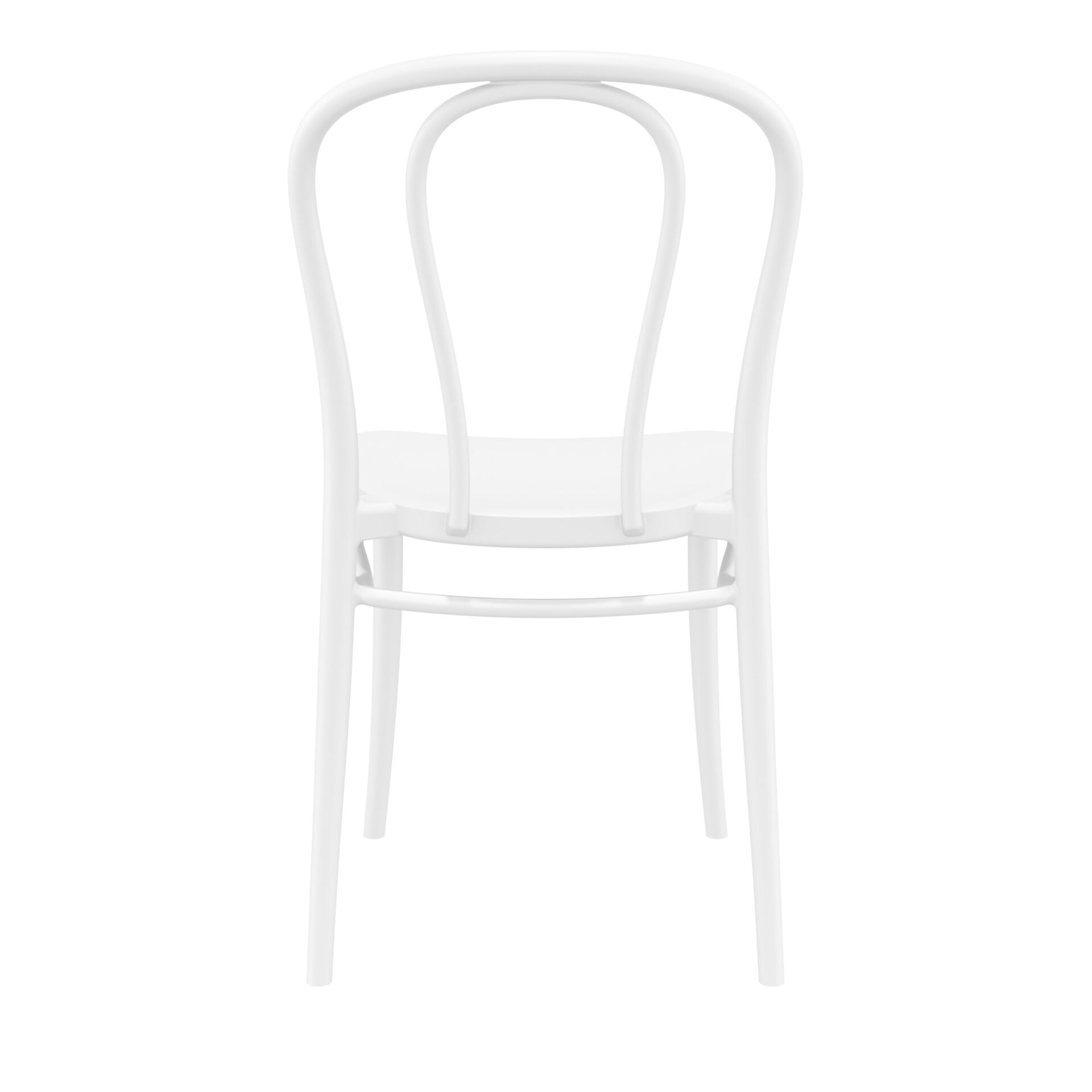 restaurant seating polypropylene victor chair white back