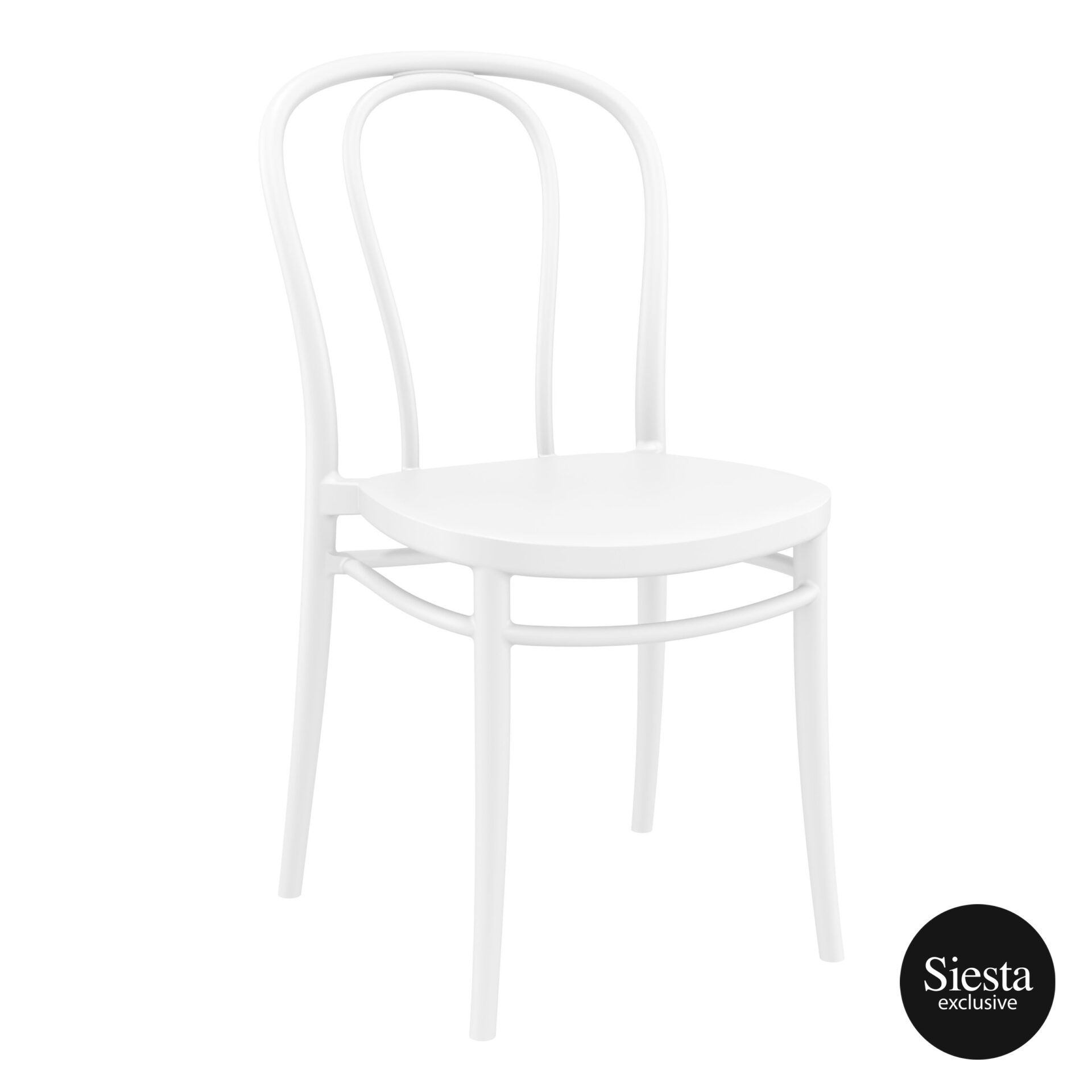 restaurant seating polypropylene victor chair white front side 1
