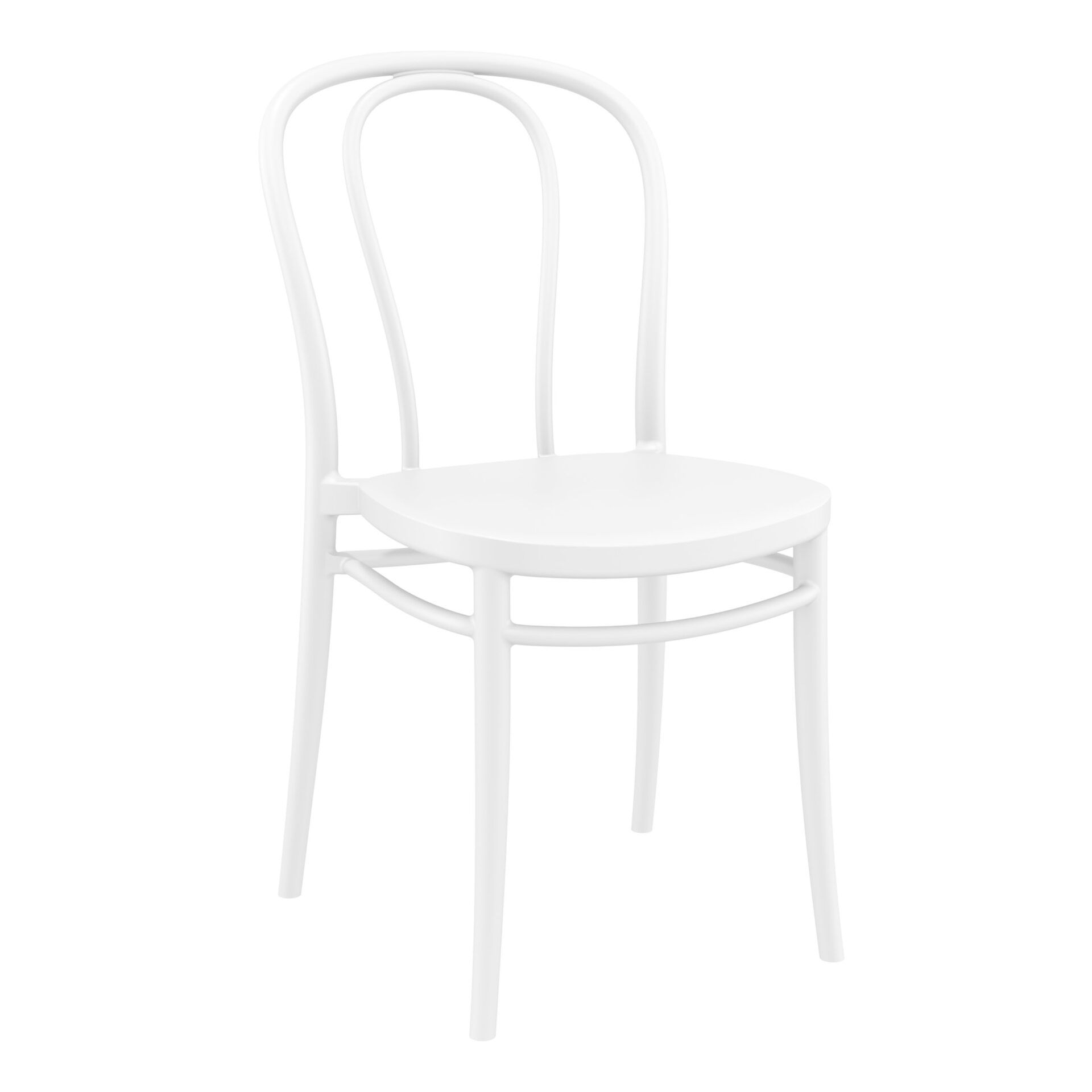 restaurant seating polypropylene victor chair white front side