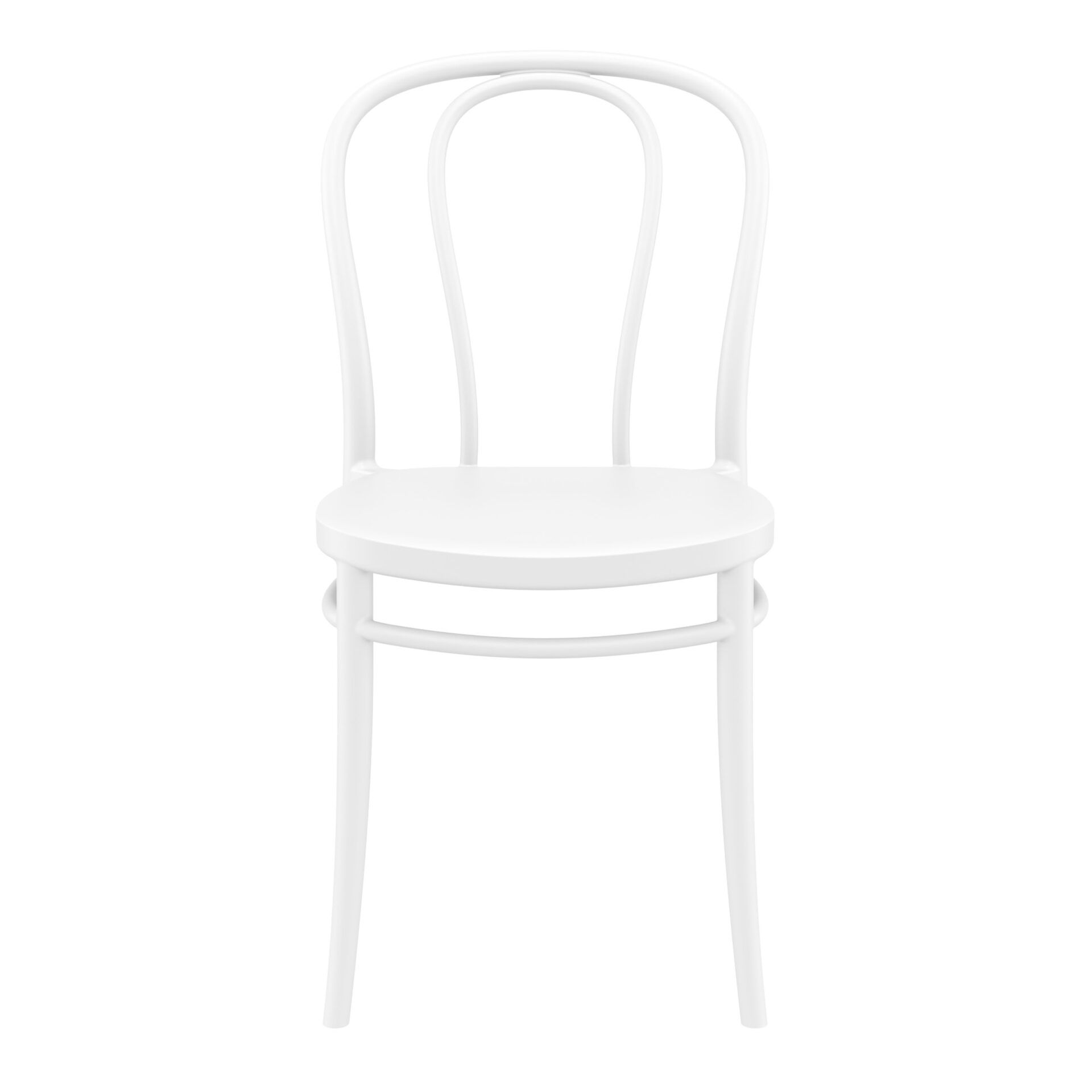 restaurant seating polypropylene victor chair white front