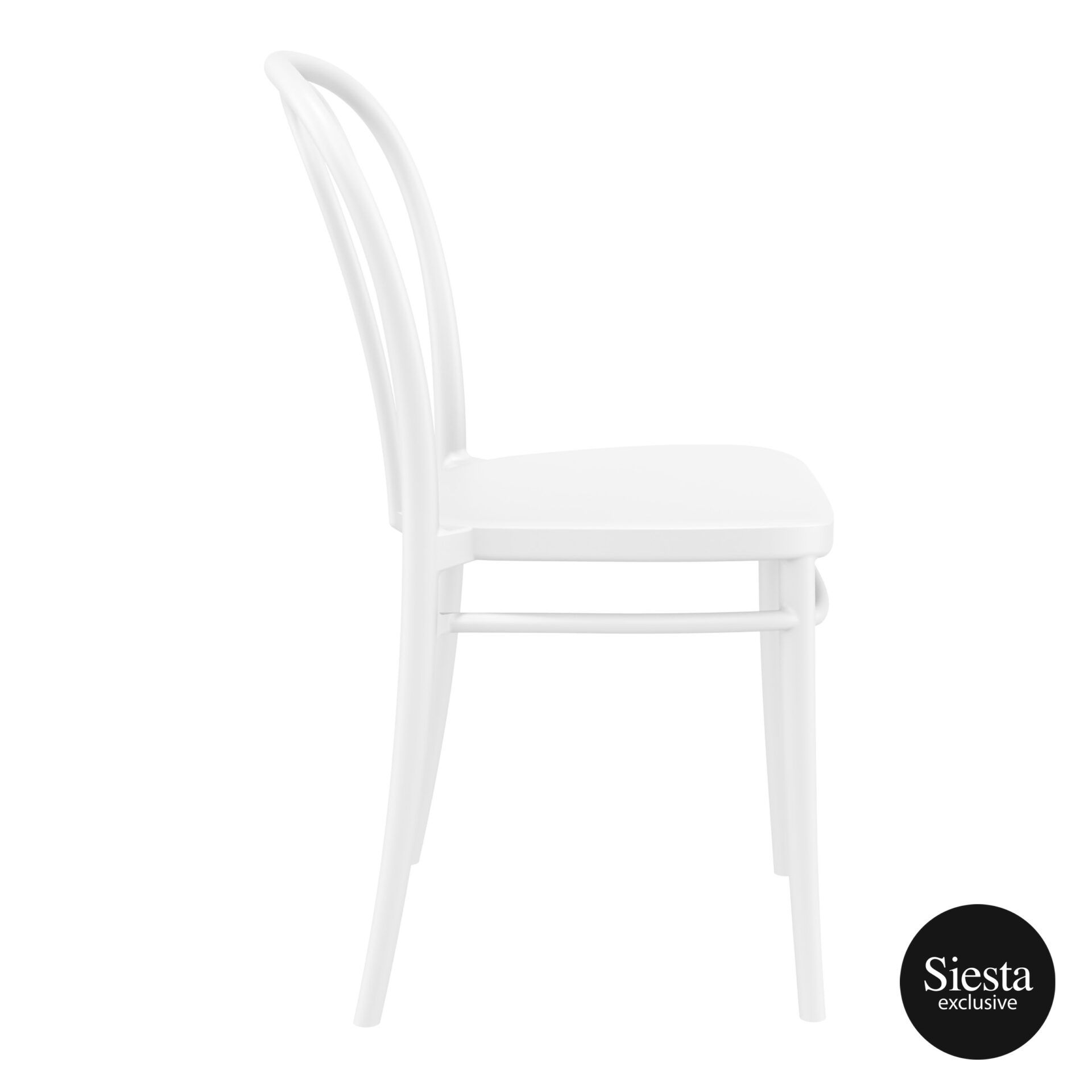 restaurant seating polypropylene victor chair white side 1