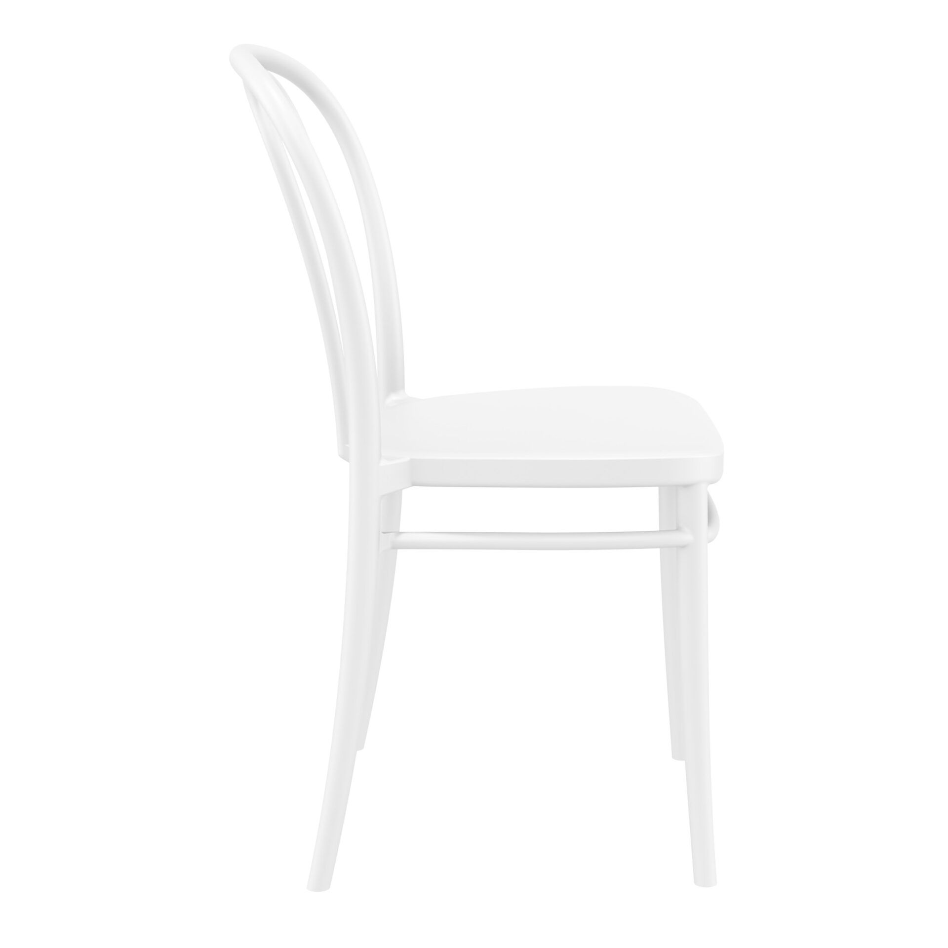 restaurant seating polypropylene victor chair white side