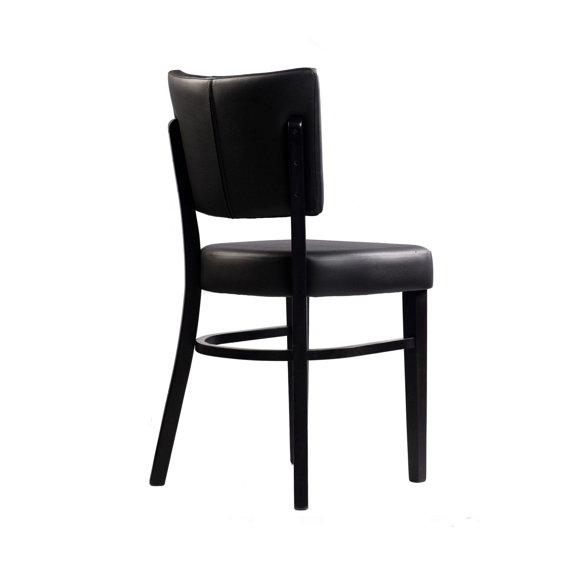 memphis chair black vinyl seat and backrest wenge frame back right