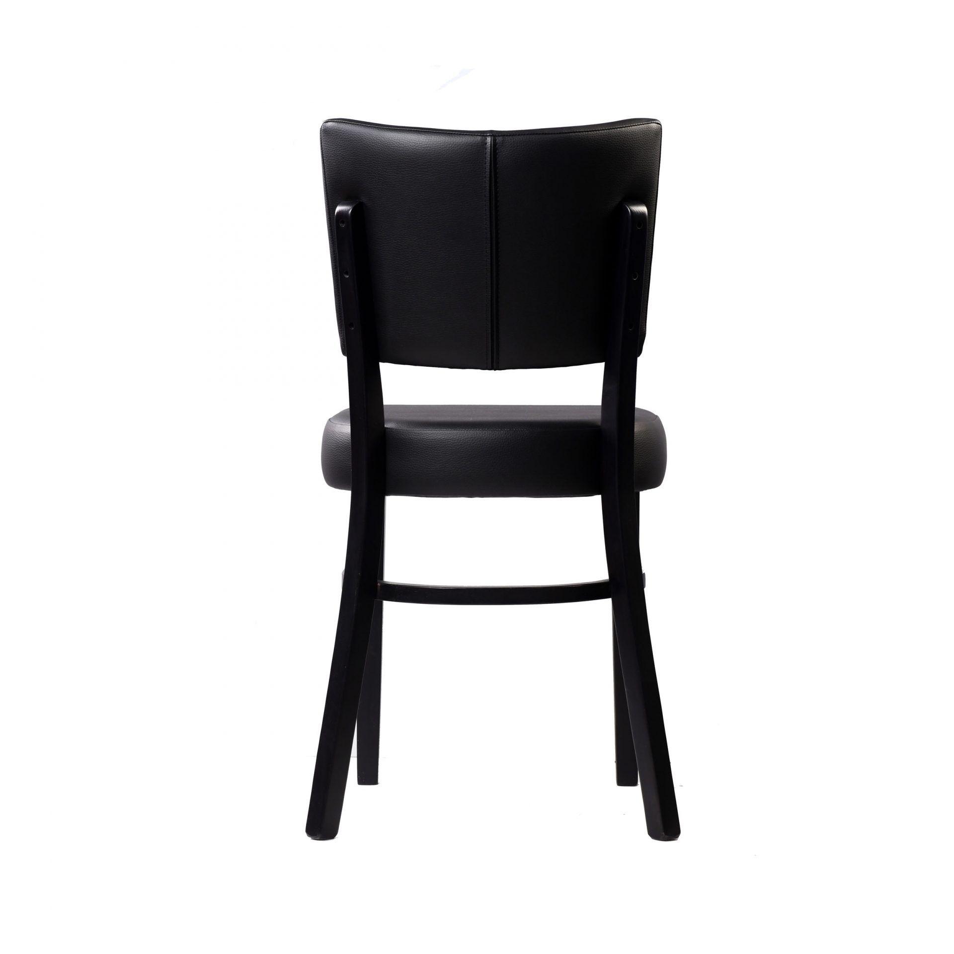 memphis chair black vinyl seat and backrest wenge frame back