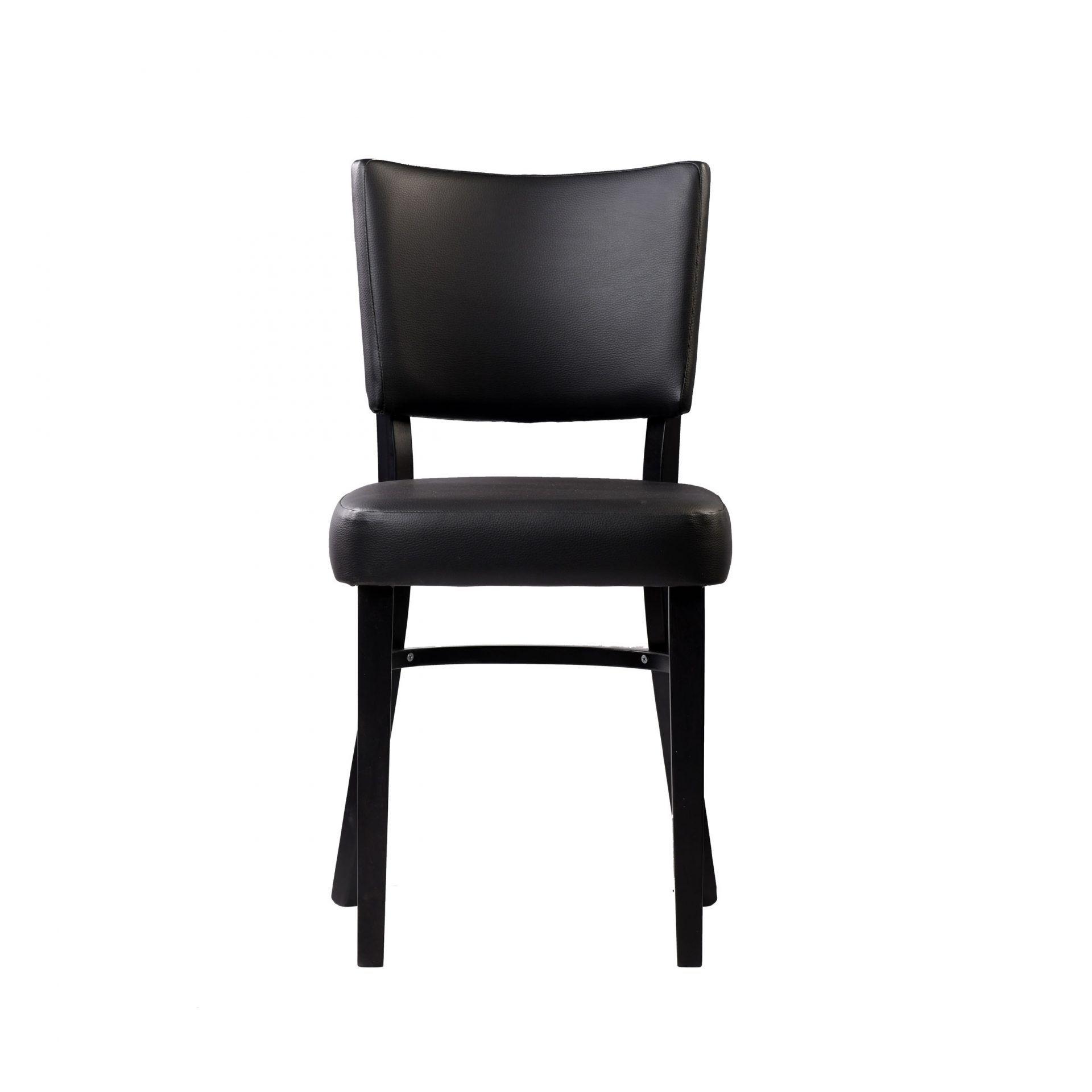 memphis chair black vinyl seat and backrest wenge frame front