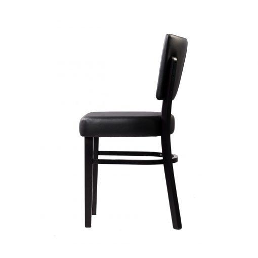 memphis chair black vinyl seat and backrest wenge frame left