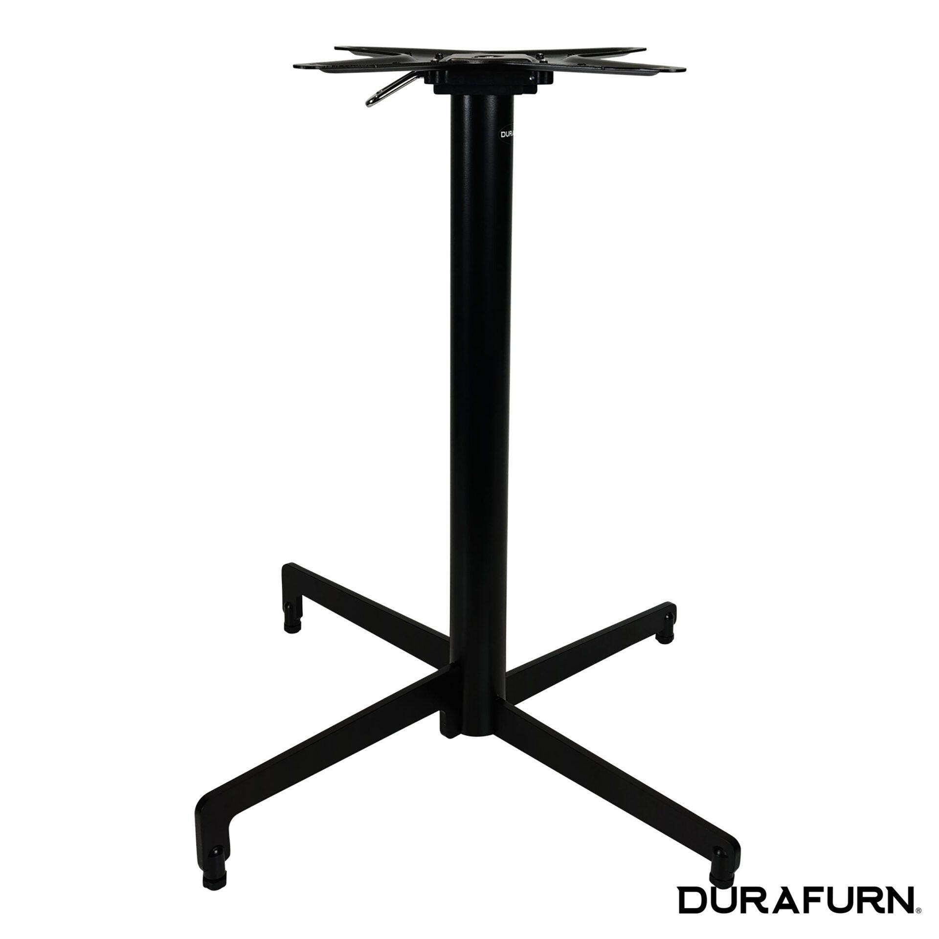 berlin folding table base black.side closed 1