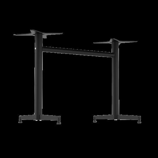 Stockholm Twin Base – Round Pole – Black