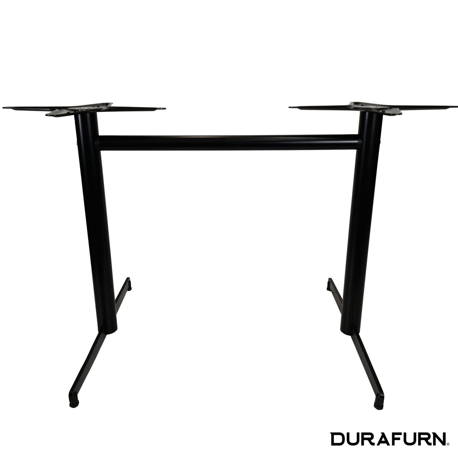 stockholm twin table base black.front straight crossplate 1