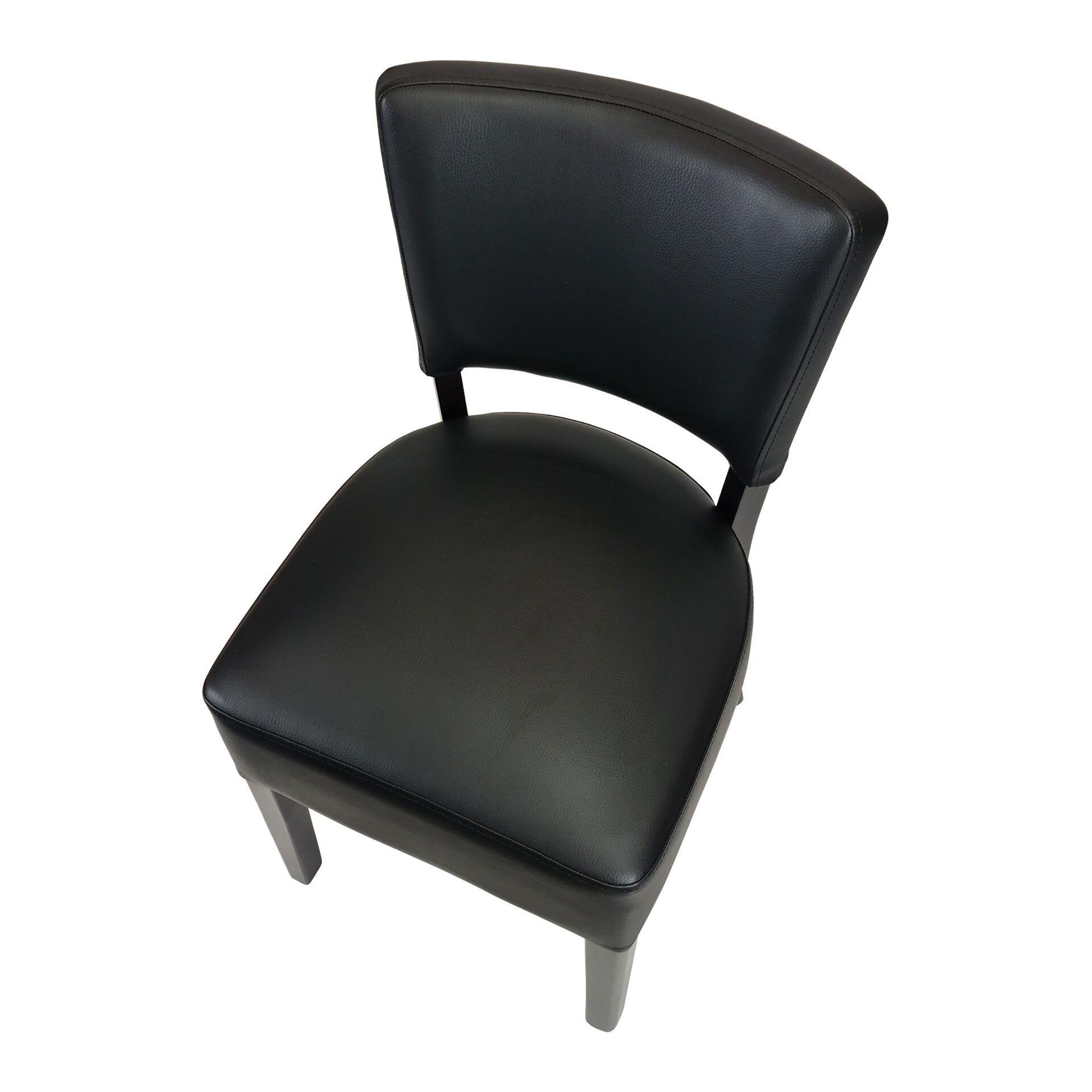 memphis club chair wenge top angle