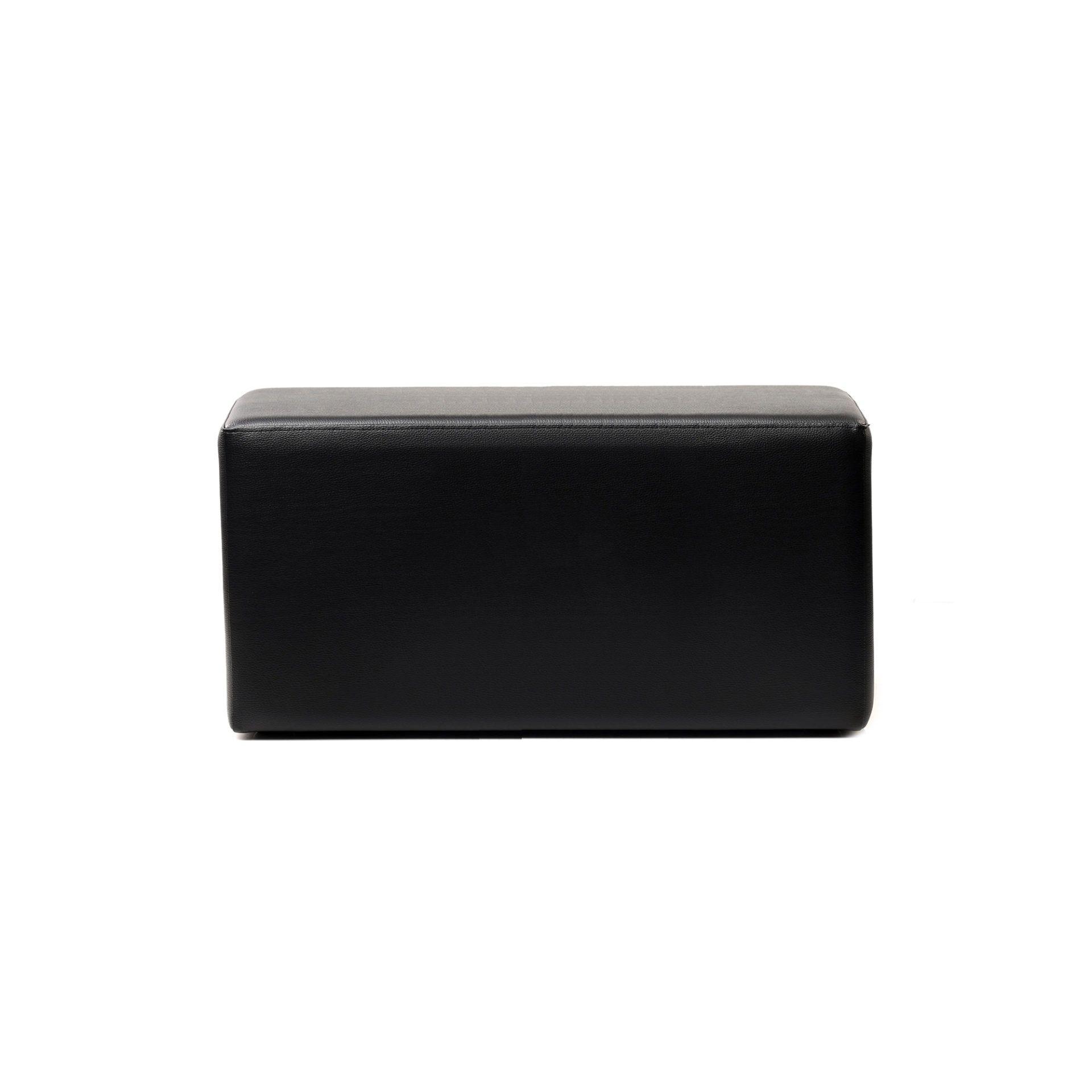 ottoman rectangle black01