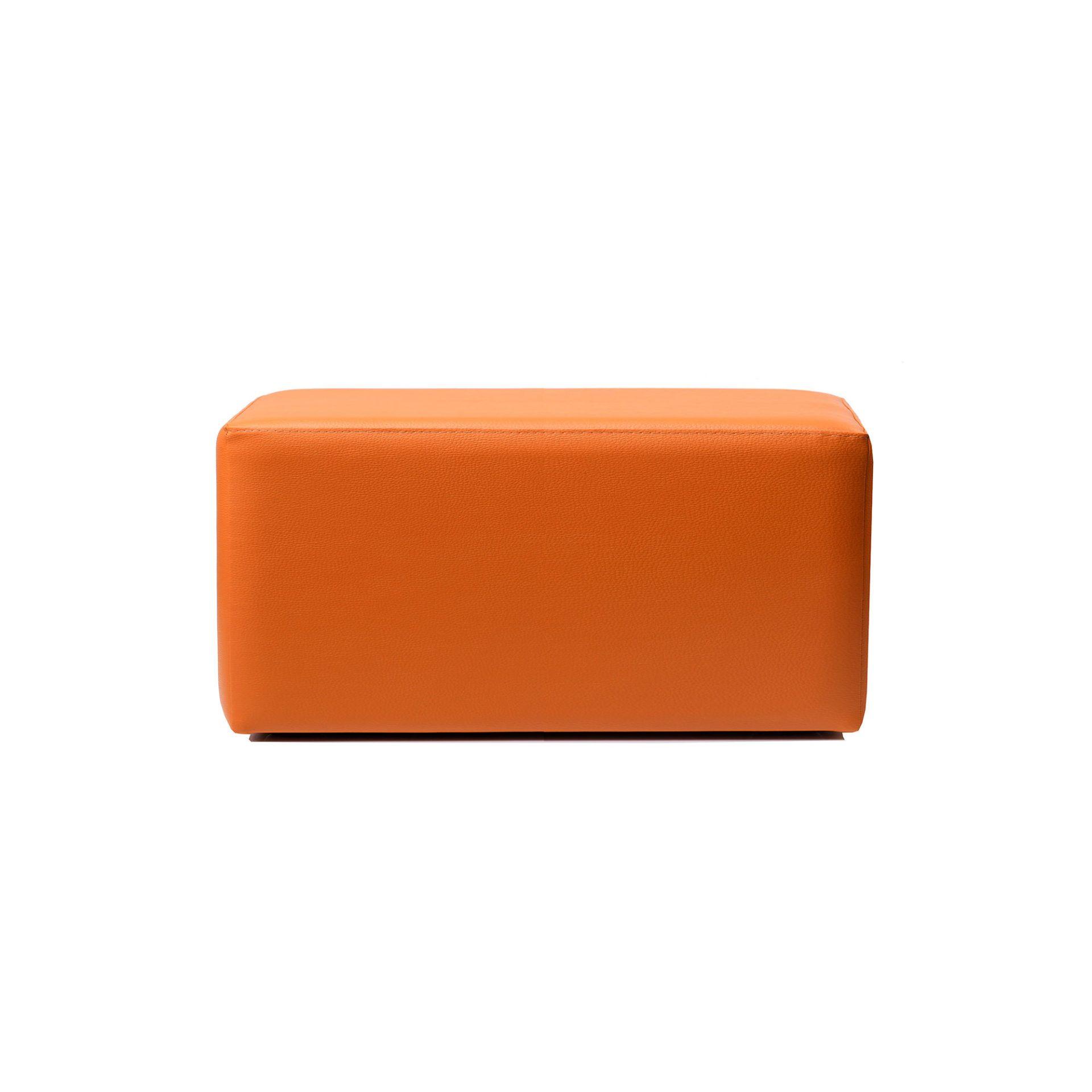 ottoman rectangle orange01