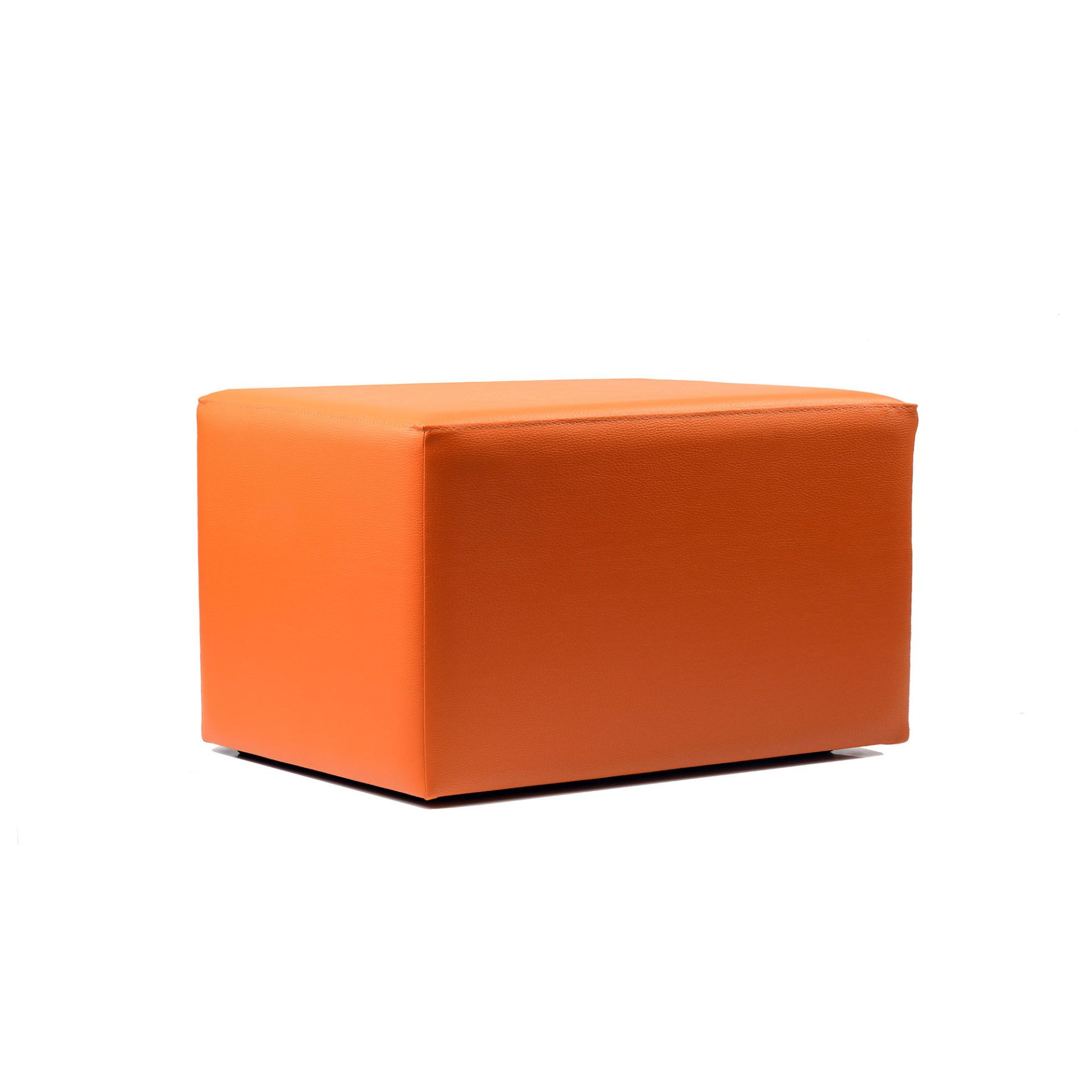 ottoman rectangle orange02