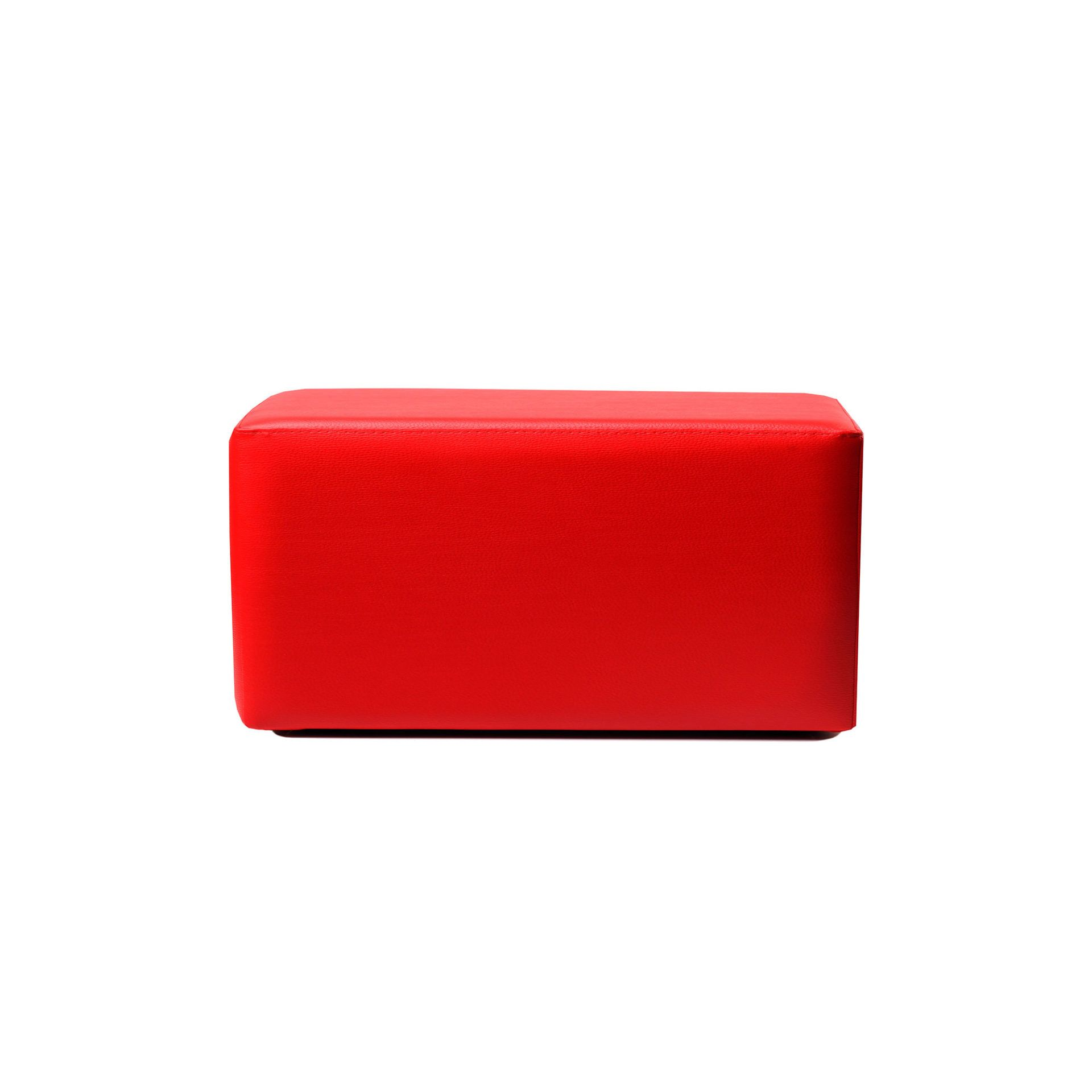 ottoman rectangle red01