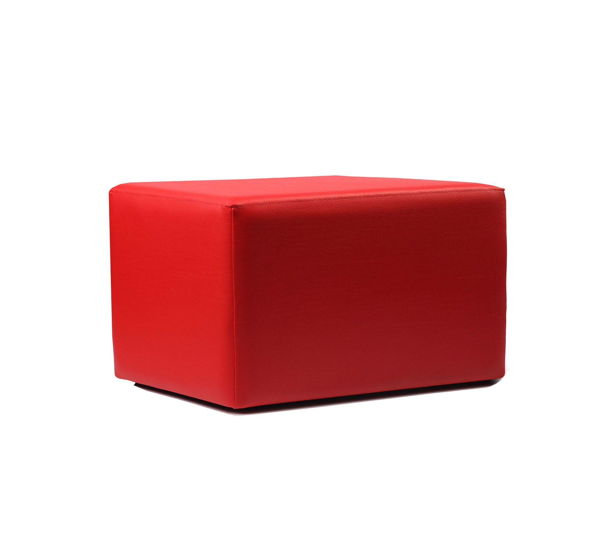 ottoman rectangle red02