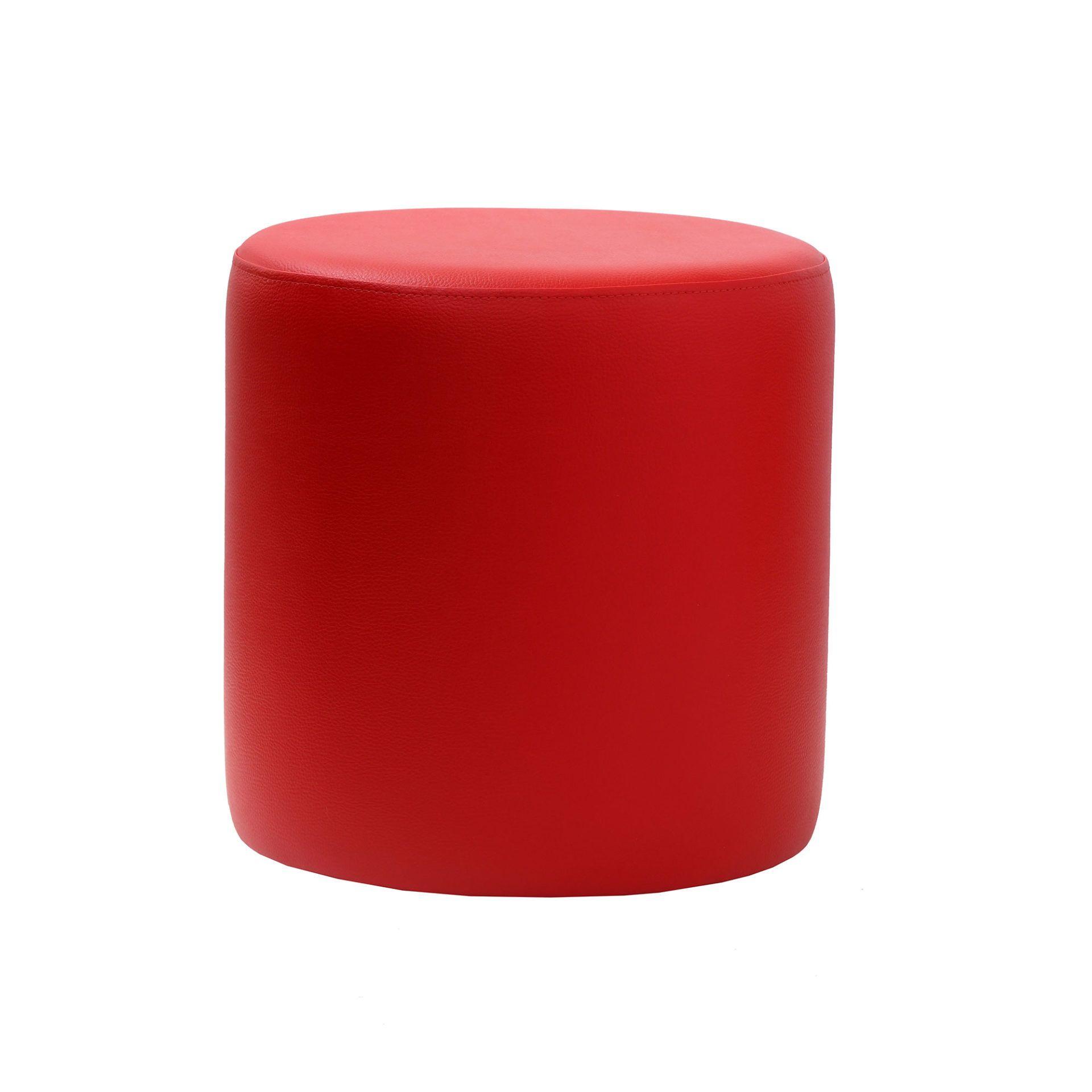 roundottoman red