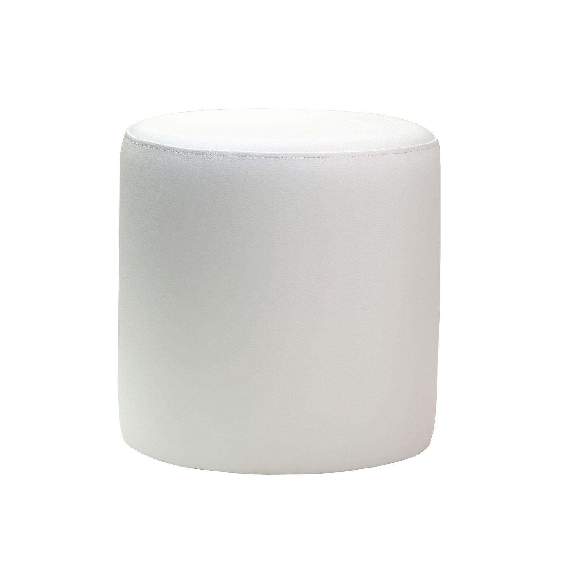 roundottoman white