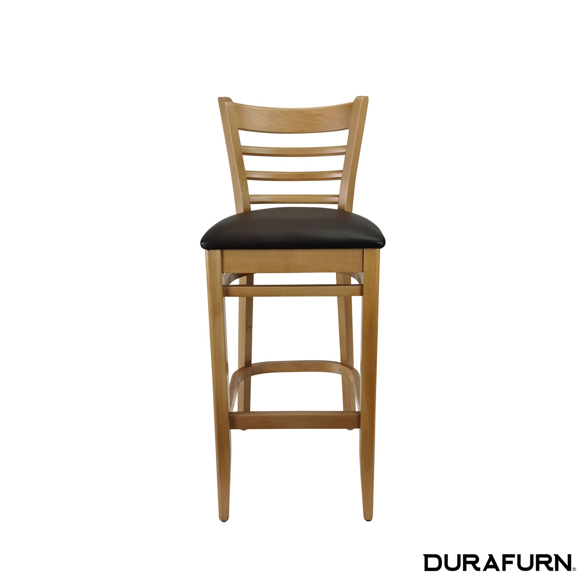 florence barstool natural.chocolate cushion front