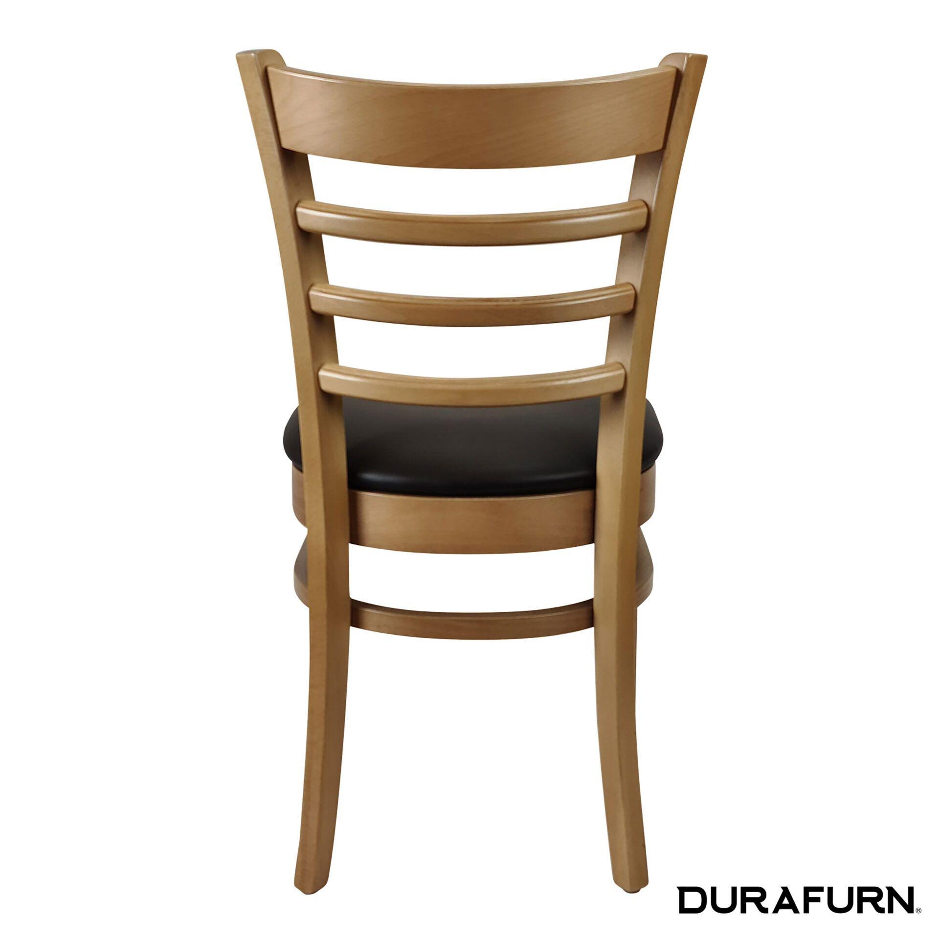 florence chair natural black cushion back