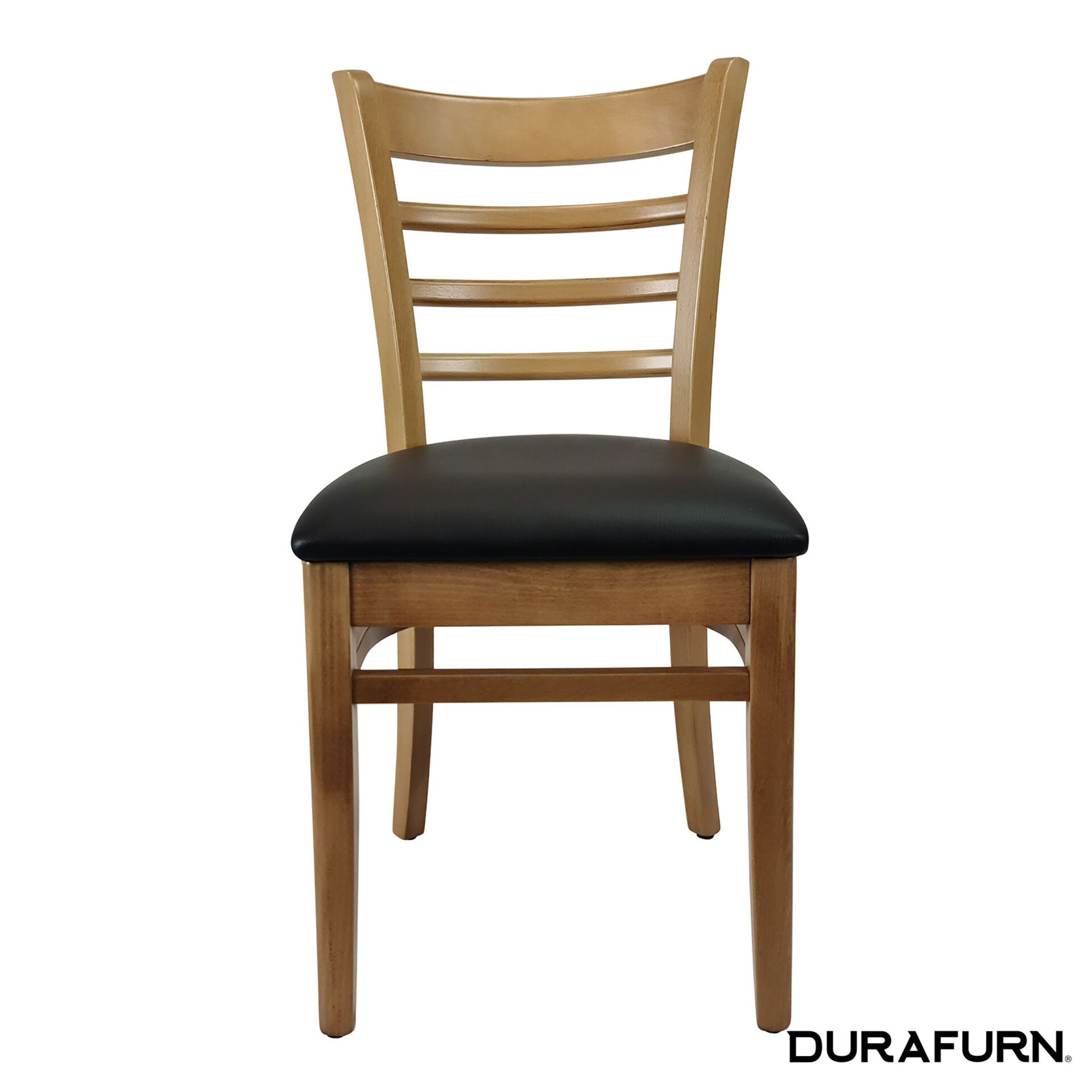 florence chair natural black cushion front