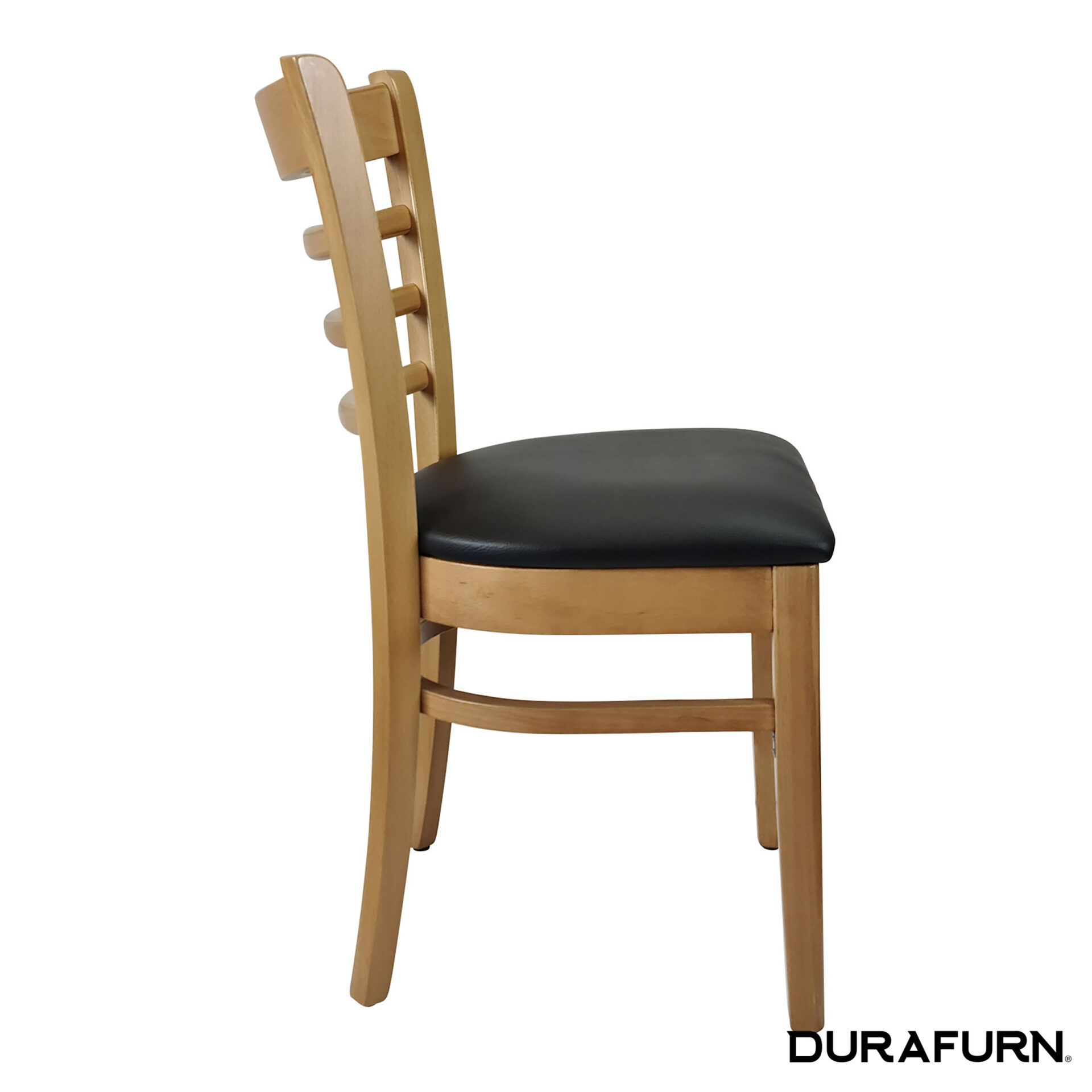 florence chair natural black cushion side