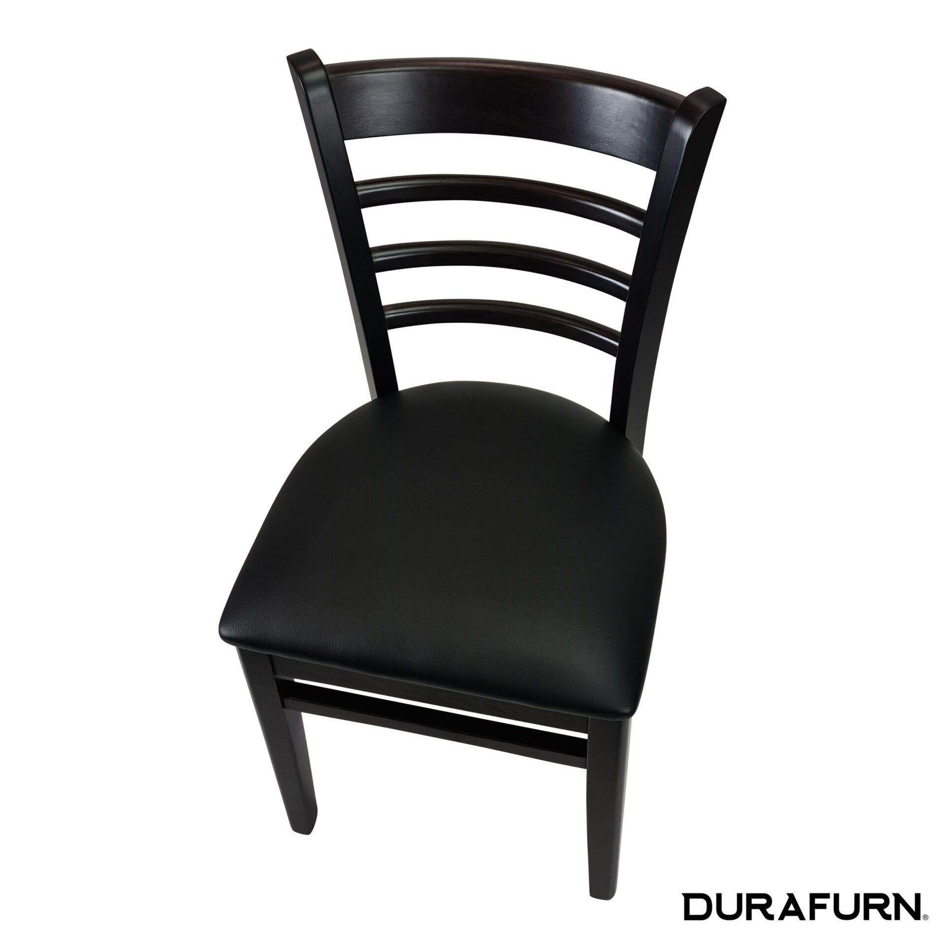 florence chair wenge black cushion top angle