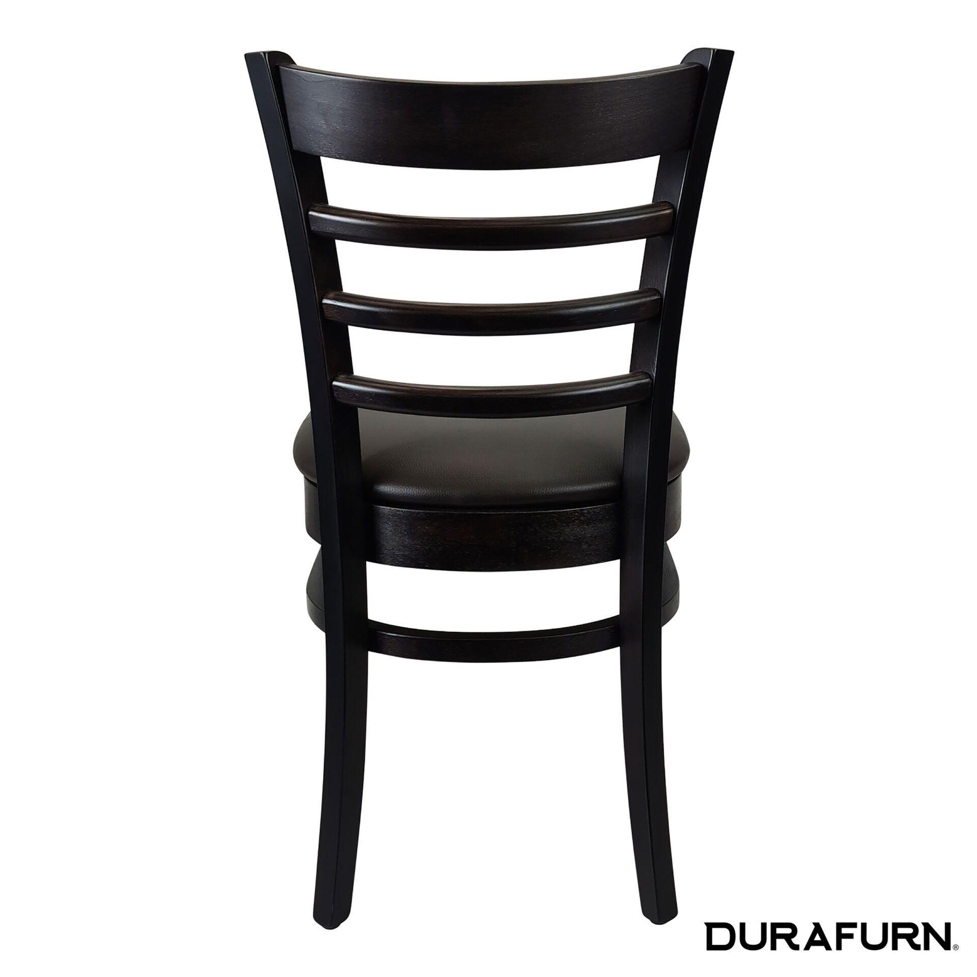 florence chair wenge chocolate cushion back