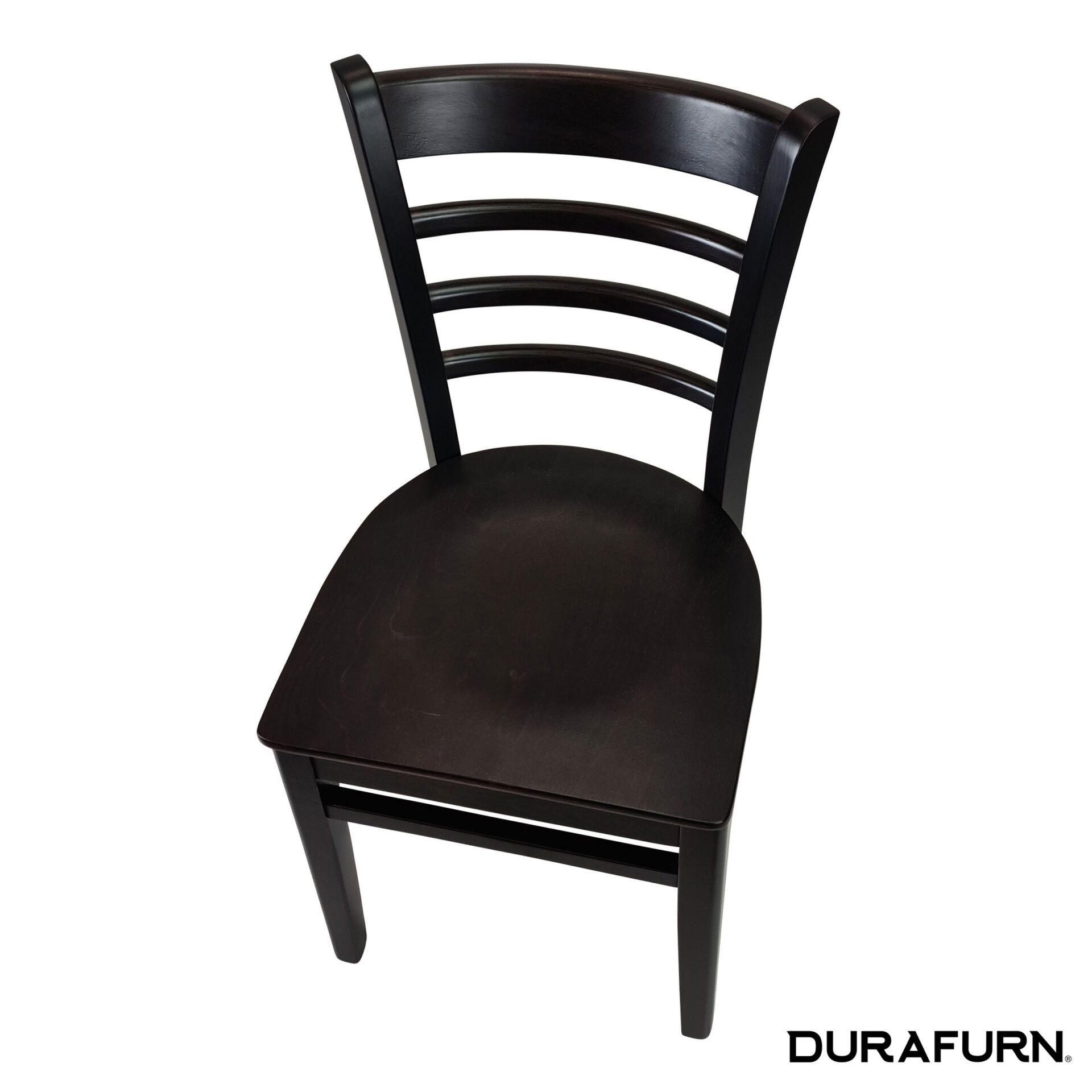 florence chair wenge top angle