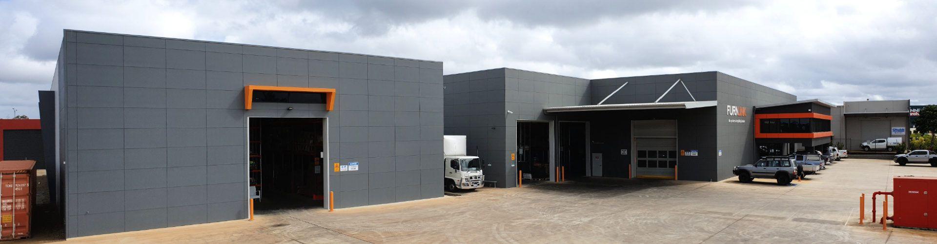 Front of the Furnlink Building in Bundaberg