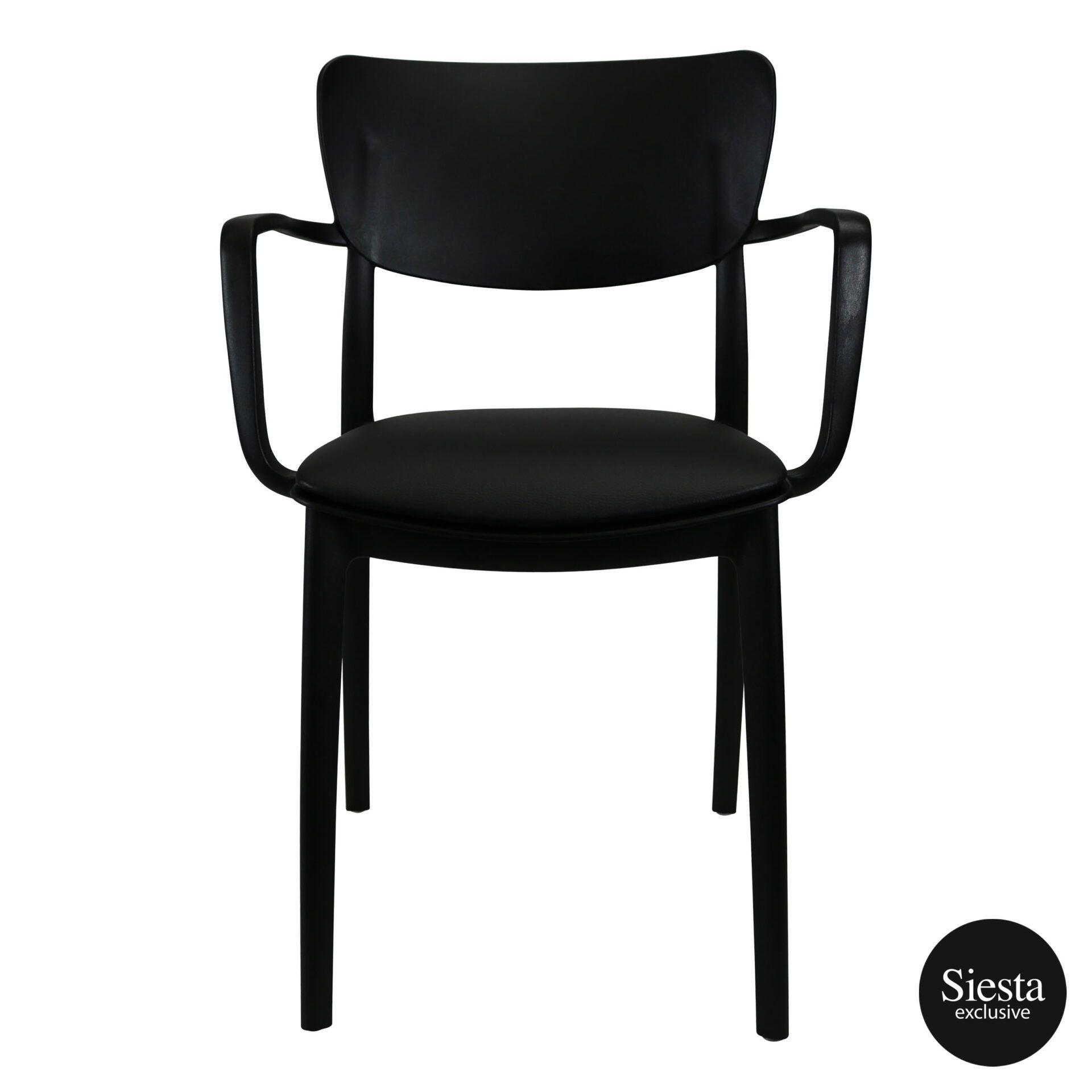 lisa armchair black c1