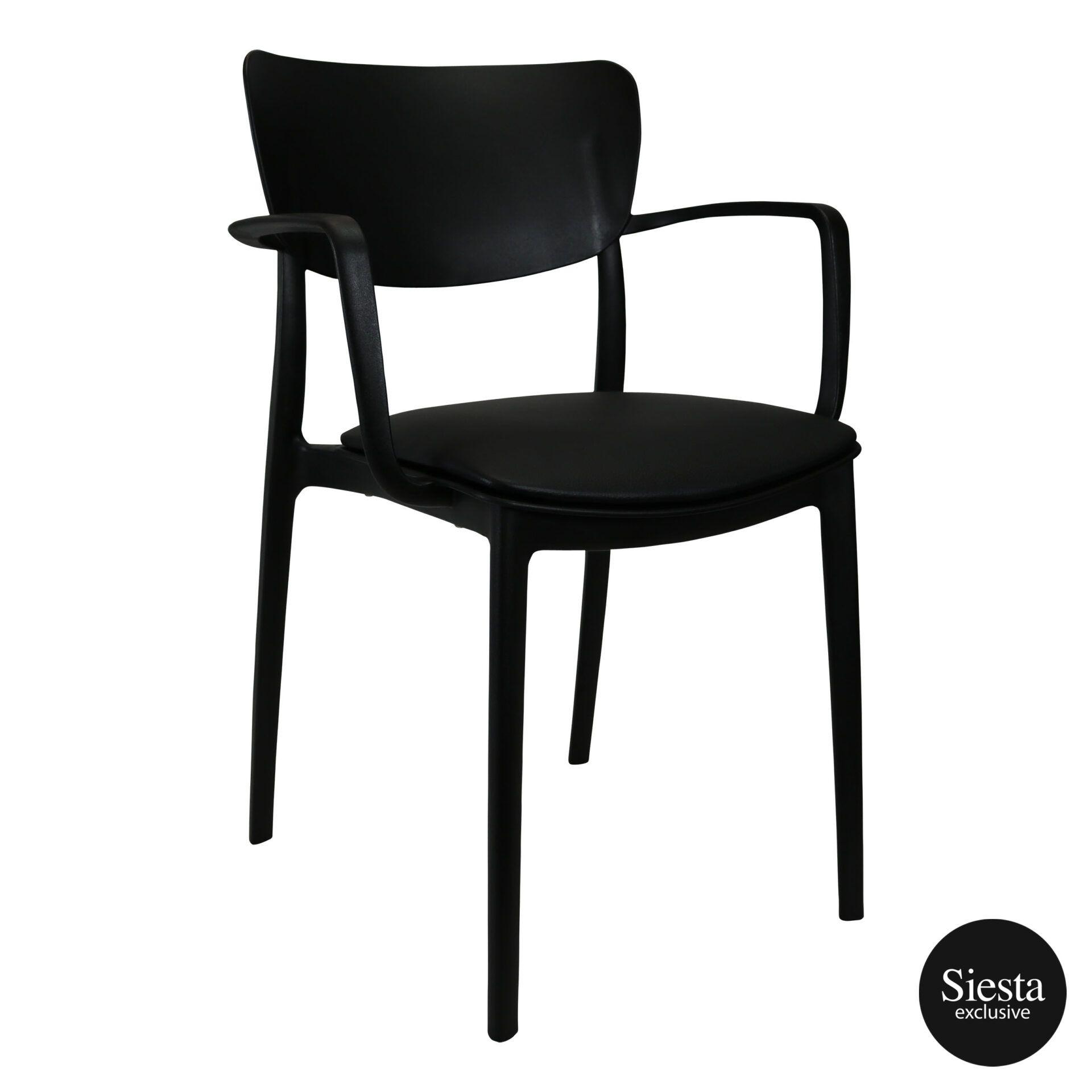 lisa armchair black c1a