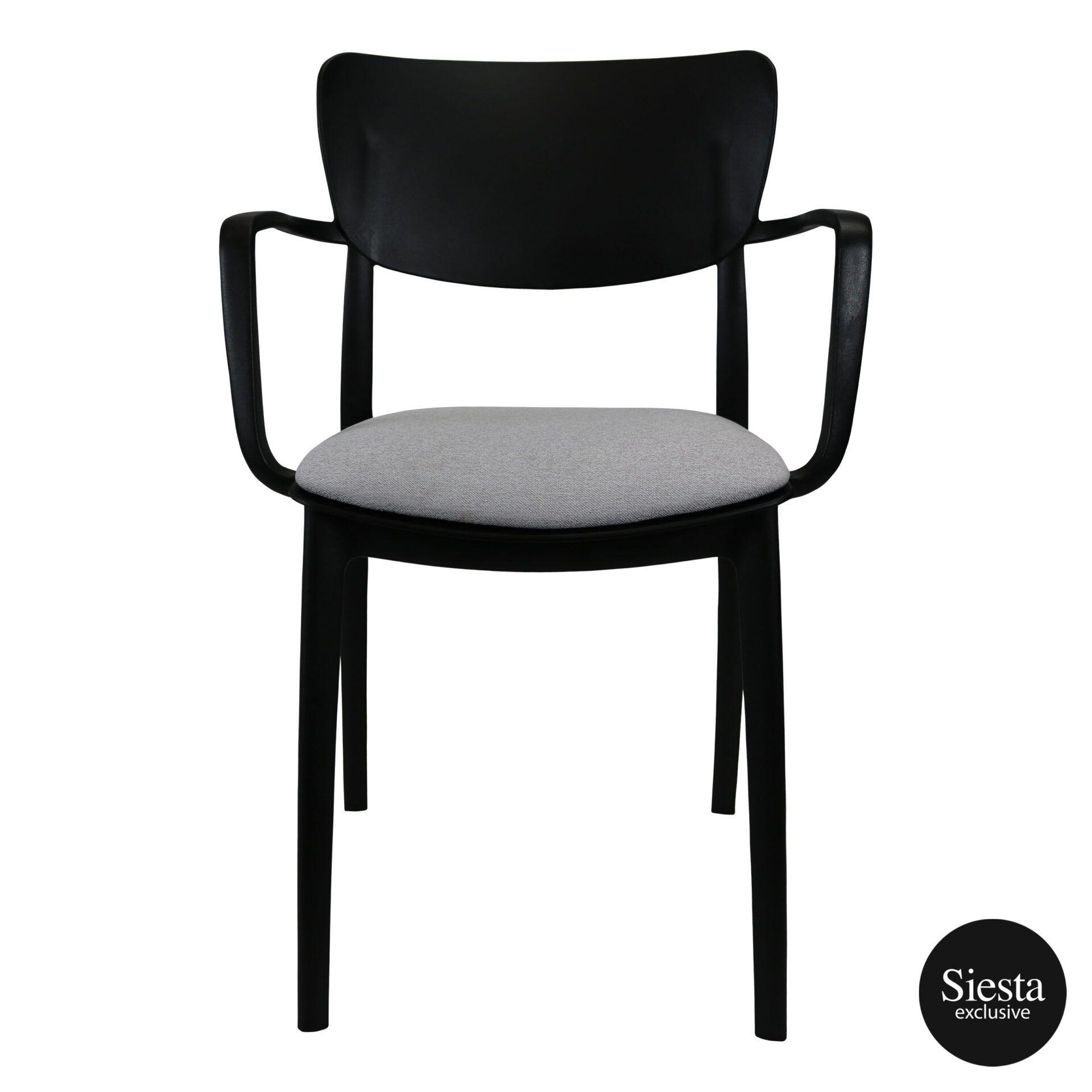 lisa armchair black c2