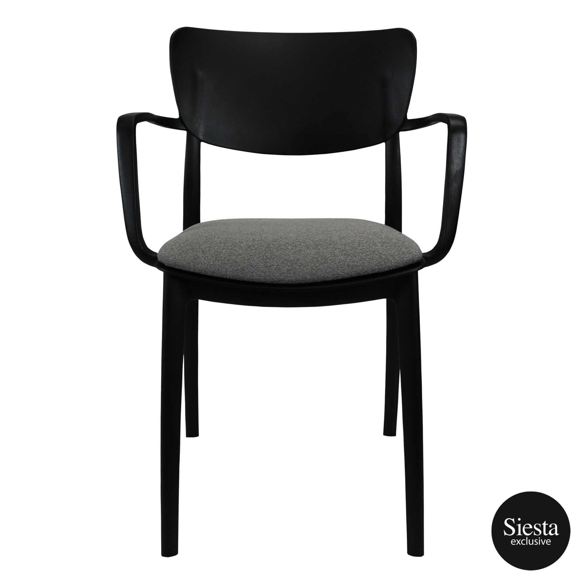 lisa armchair black c3