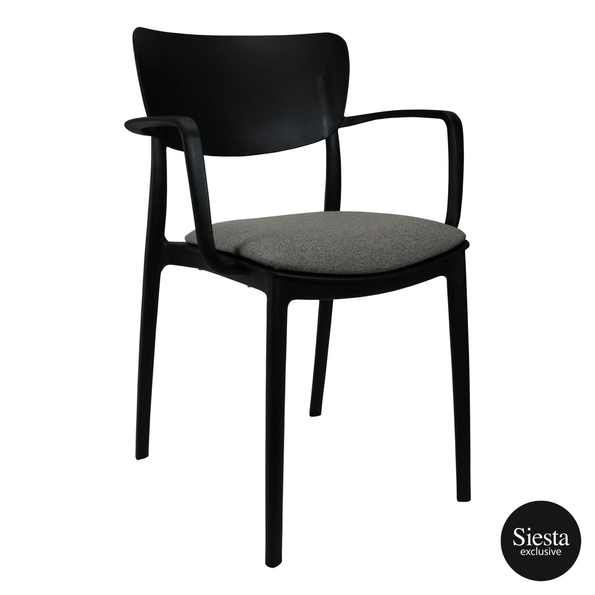 lisa armchair black c3a