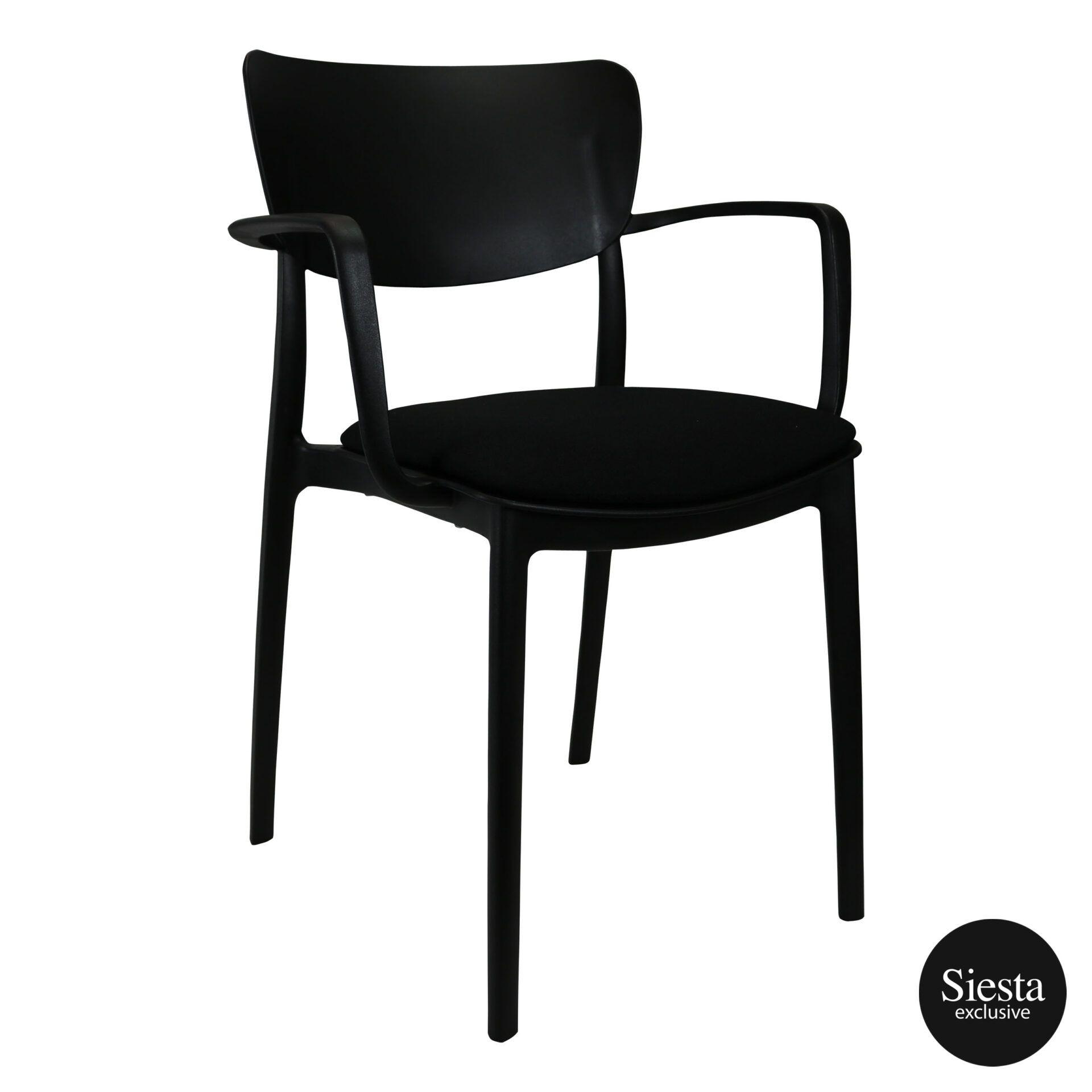 lisa armchair black c4a