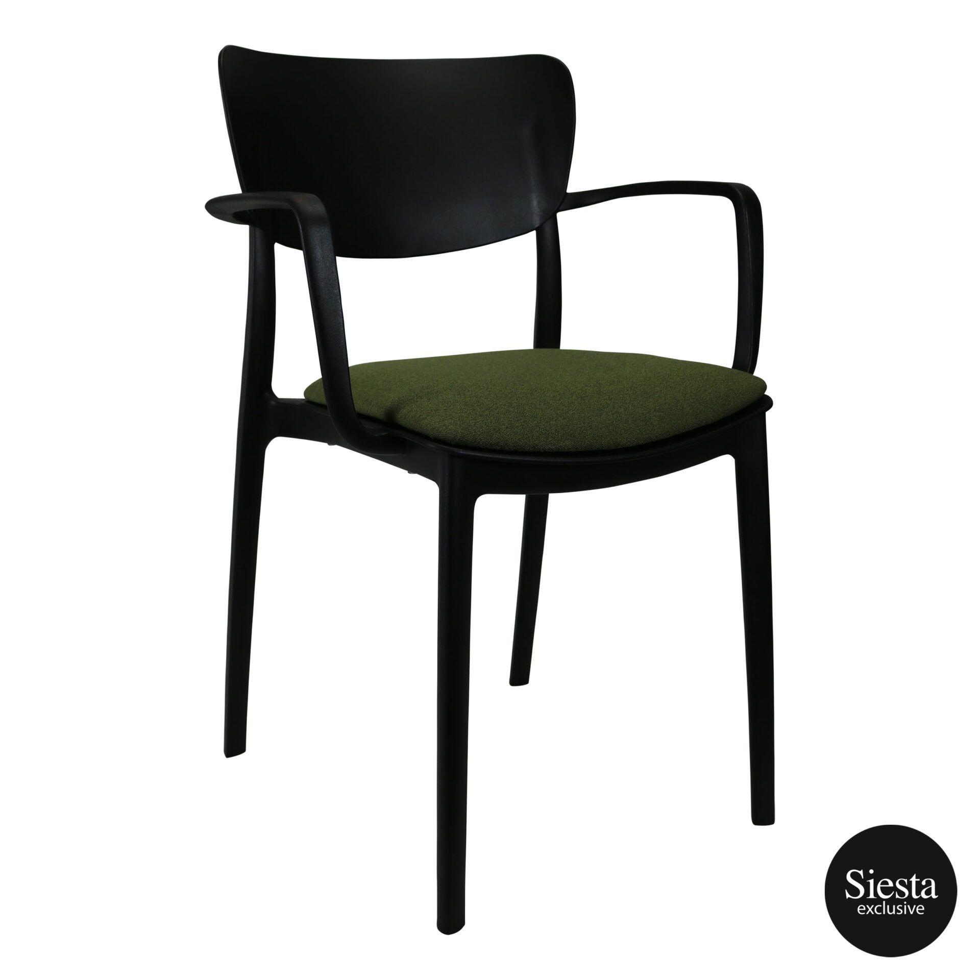 lisa armchair black c5a